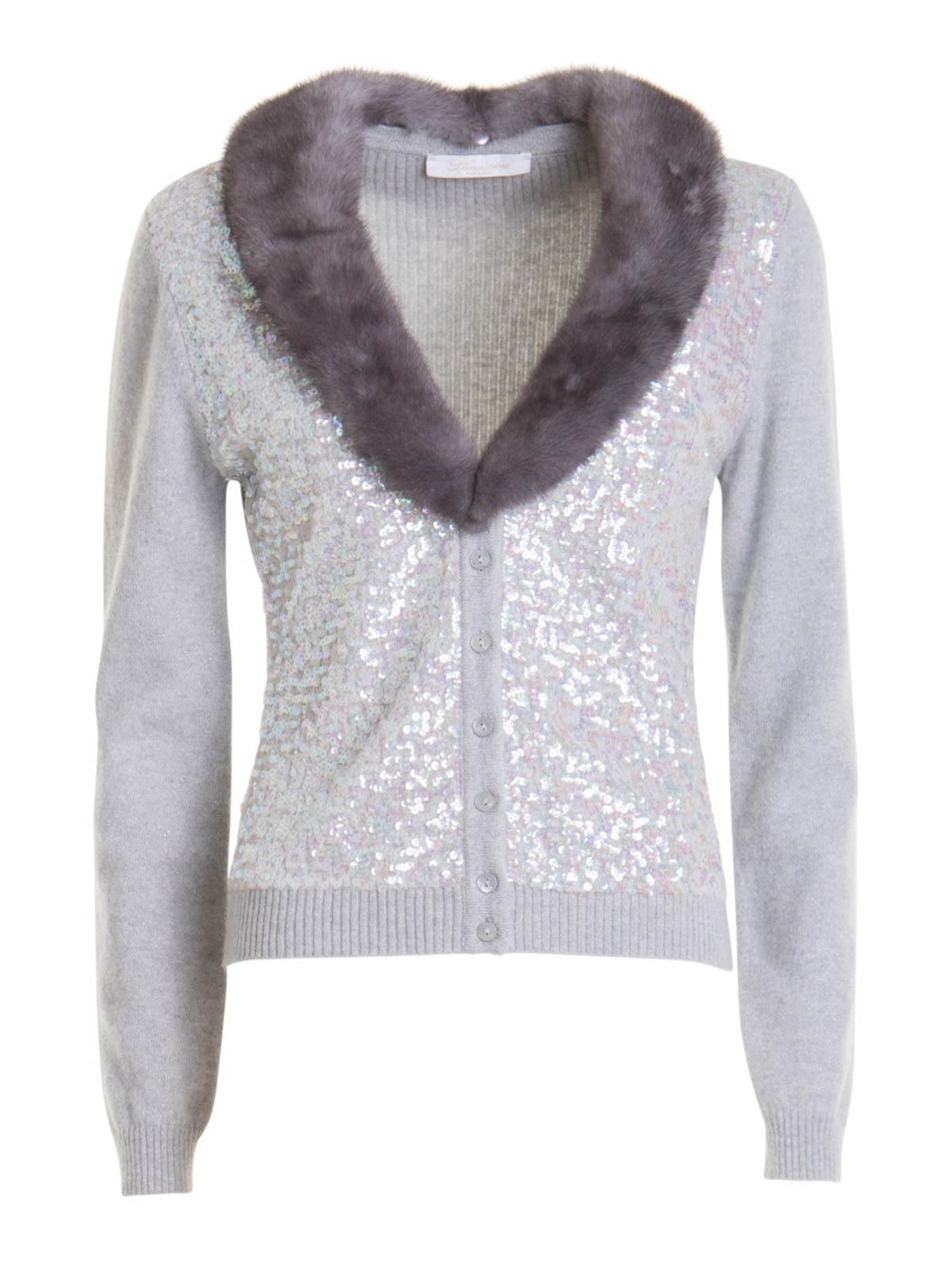 Blumarine Wools WOOL CASHMERE BLEND CARDIGAN