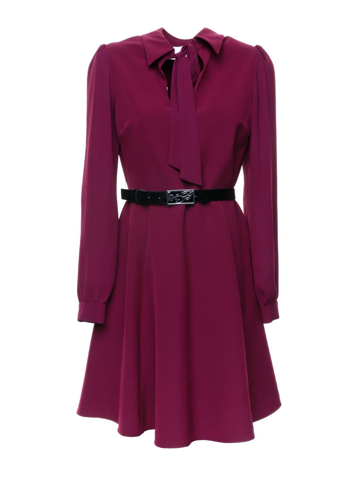 Blumarine BELT DRESS IN BURGUNDY
