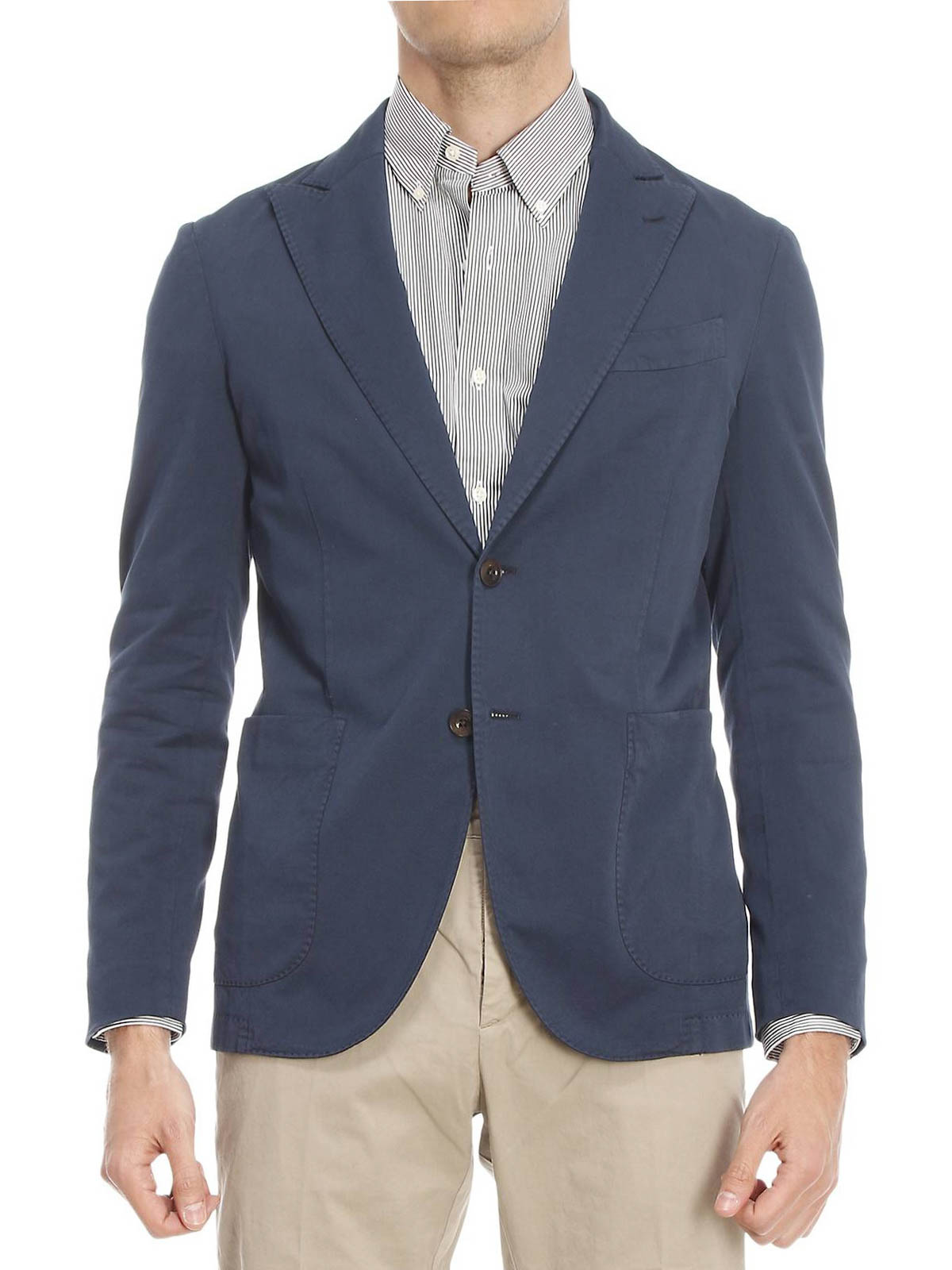 and blazer BCP408 Cotton blazers silk Boglioli STPzqwYY