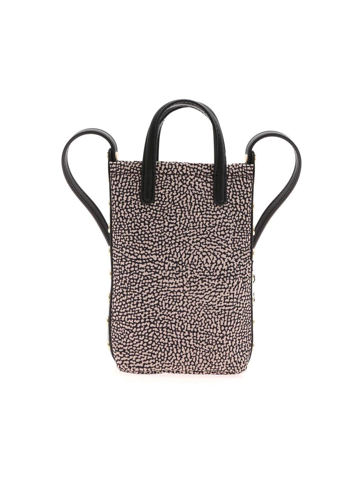 Borbonese OP PRINT SHOULDER BAG IN BROWN