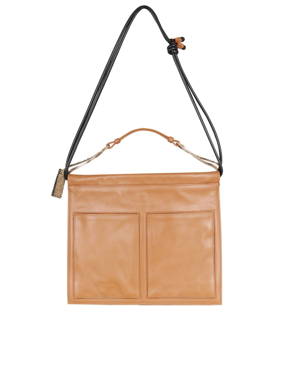 Borbonese CENTERFOLD MEDIUM BAG IN BROWN