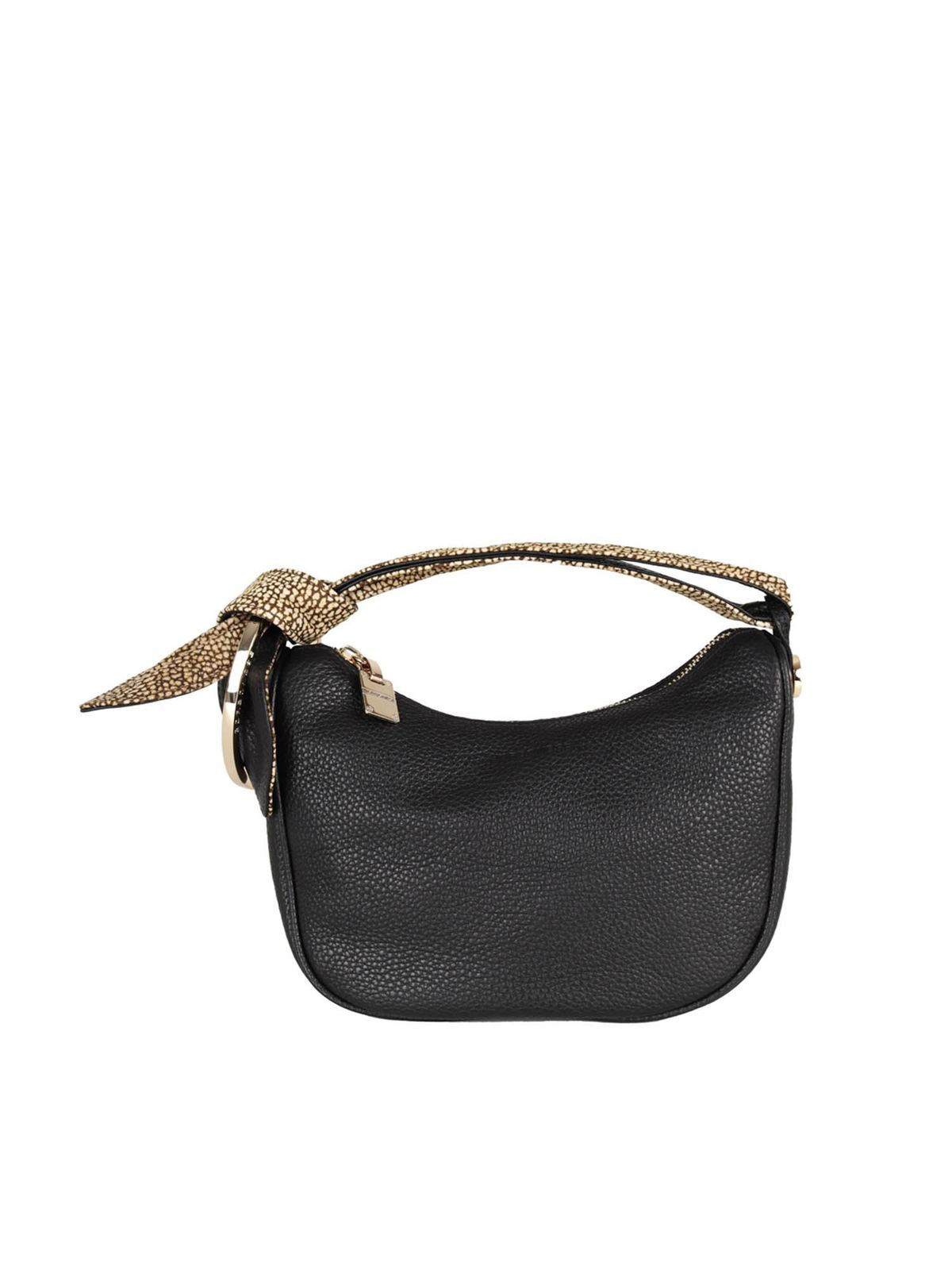 Borbonese LUNA PETITE BAG IN BLACK