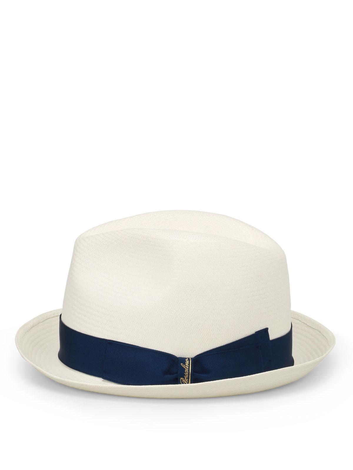 Borsalino - Panama con nastro blu - cappelli - 1410550014  ebf2cfe28b8e