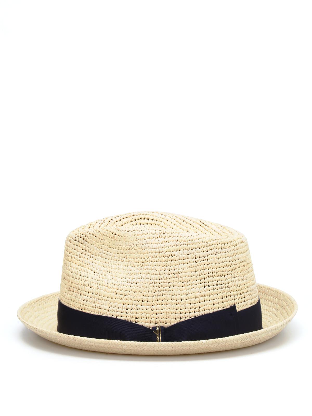 Borsalino - Panama semicrochet a tesa piccola - cappelli - BO1410797142 baffe4350192