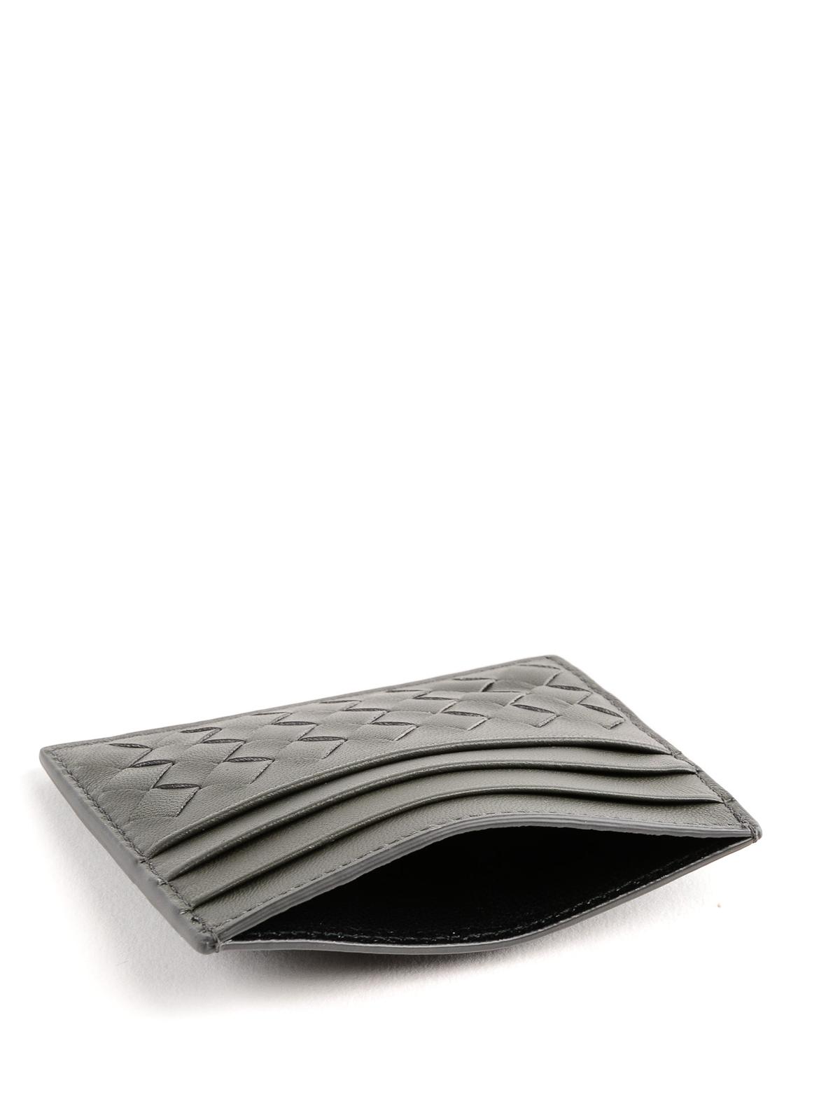 617058ef140ae Bottega Veneta - Intrecciato new light grey card holder - wallets ...