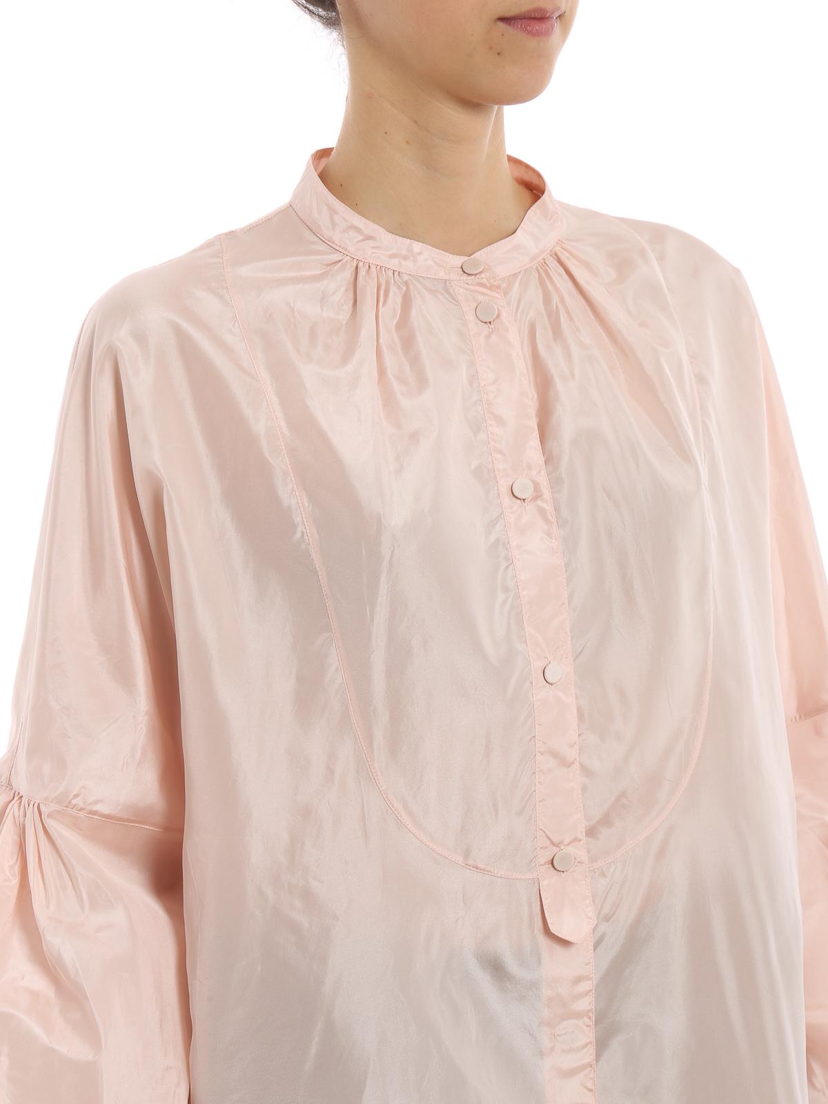 0c35980ce03a7 Bottega Veneta - Light pink silk taffeta blouse - blouses ...