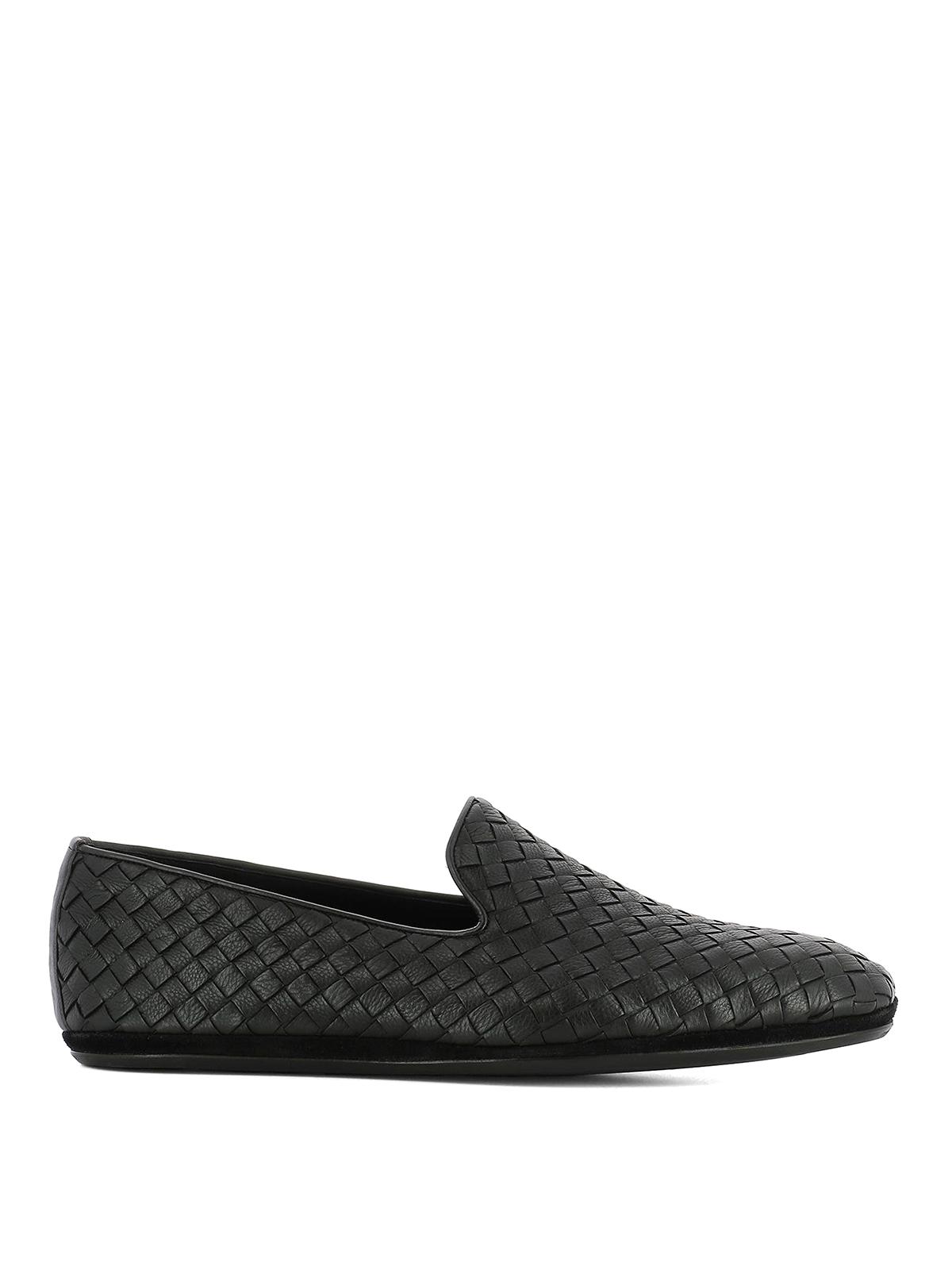 Alexander McQueen Black Intrecciato Loafers gzF9m4YUM