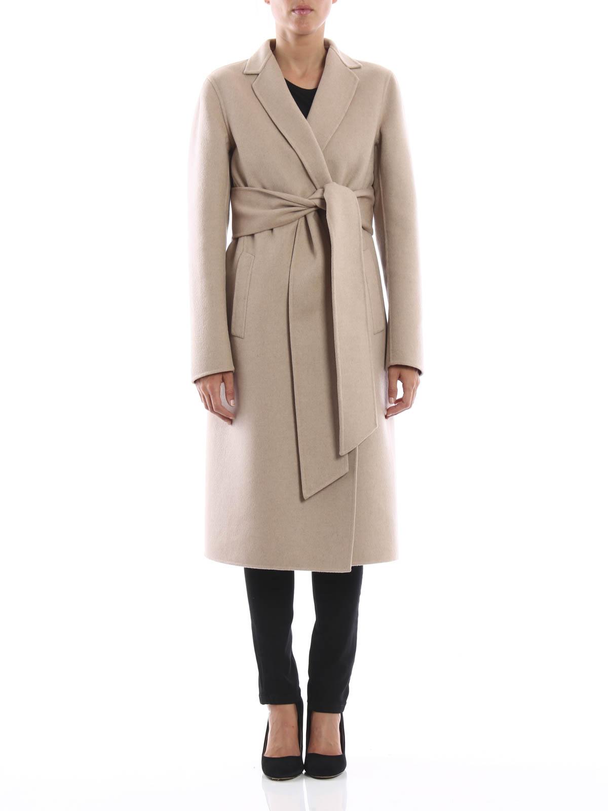 new items good texture super service Bottega Veneta - Double cashmere wrap coat - long coats ...