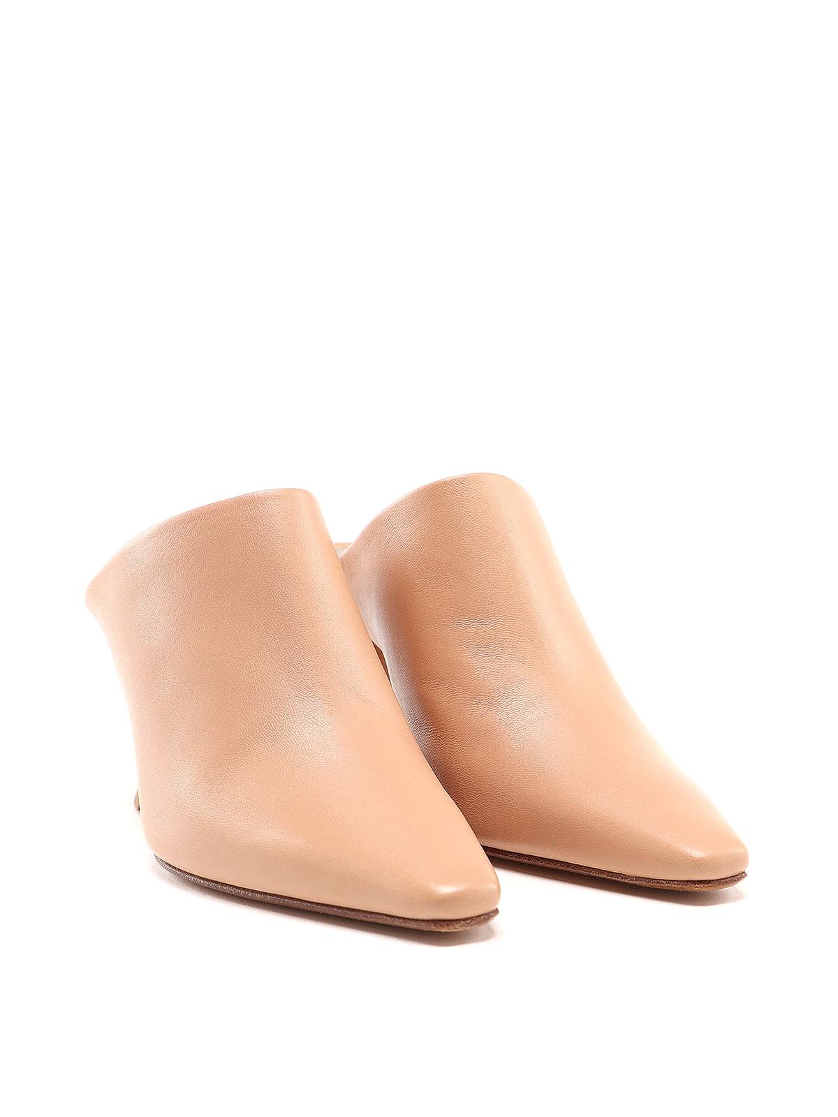 Bottega Veneta - Leather heeled mules