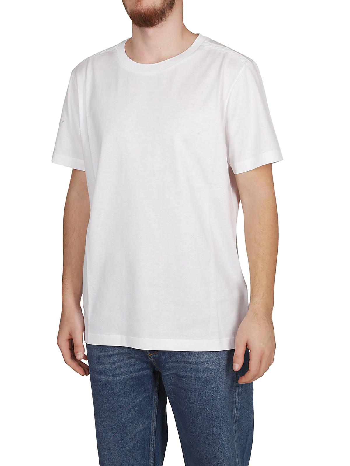 f519068658d2b BOTTEGA VENETA: t-shirts online - Intrecciato pattern white T-shirt