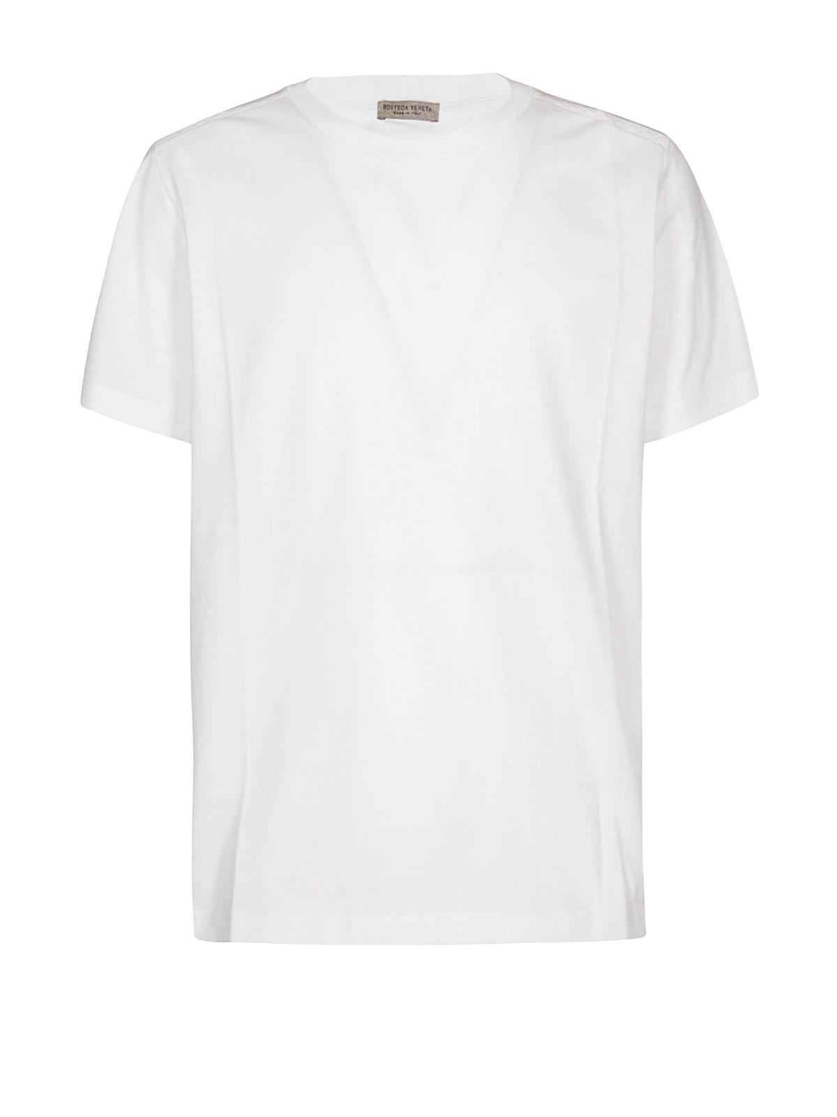 556b8378c7671 Bottega Veneta - Intrecciato pattern white T-shirt - t-shirts ...