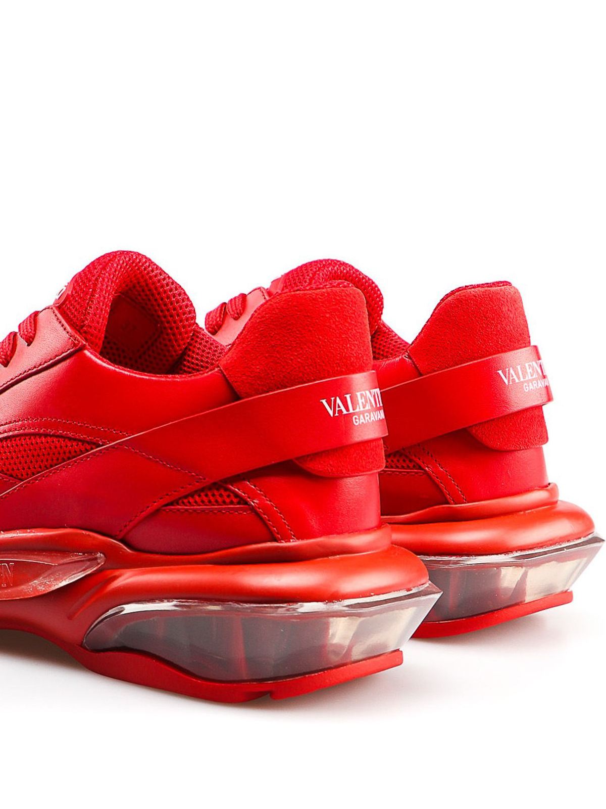 Valentino Garavani , Bounce red leather sneakers , trainers