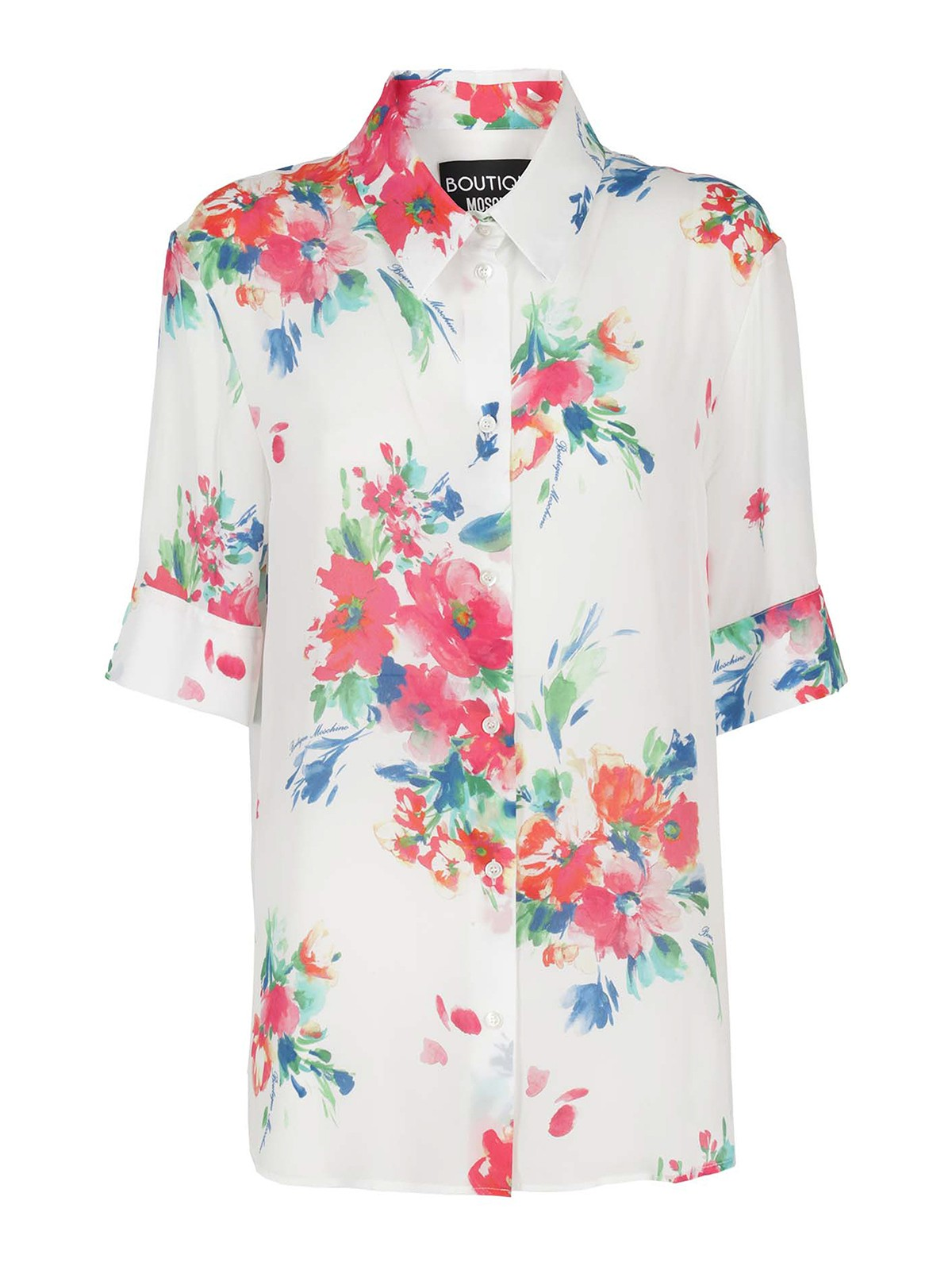 Boutique Moschino Cottons FLORAL PRINTED SHIRT