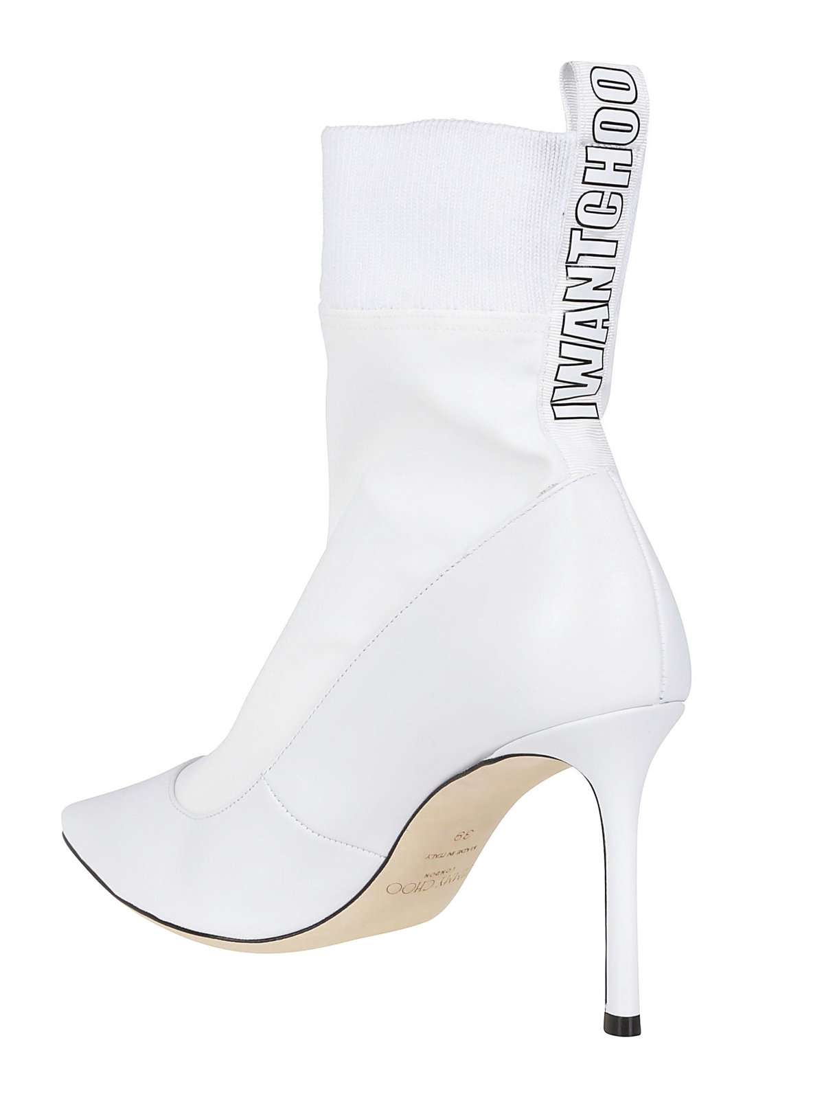 d2c647d8a848 Jimmy Choo - Brandon white sock heeled ankle boots - ankle boots ...
