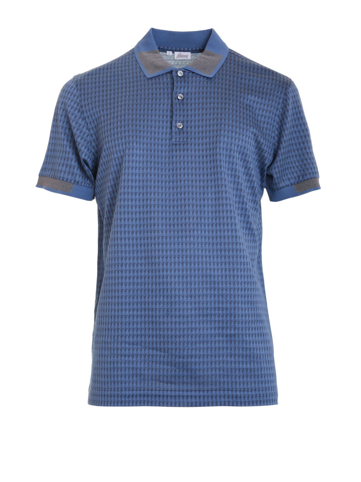 Geometric print polo shirt by brioni polo shirts shop for Polo shirts for printing
