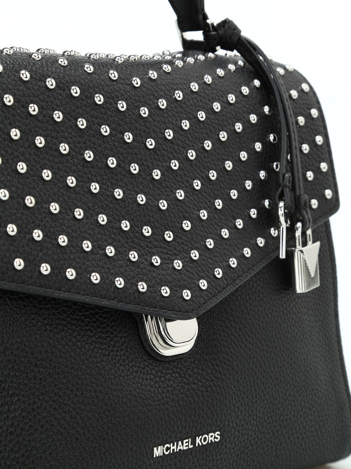 a703379a8b99b1 Michael Kors - Bristol medium studded satchel bag - bowling bags ...