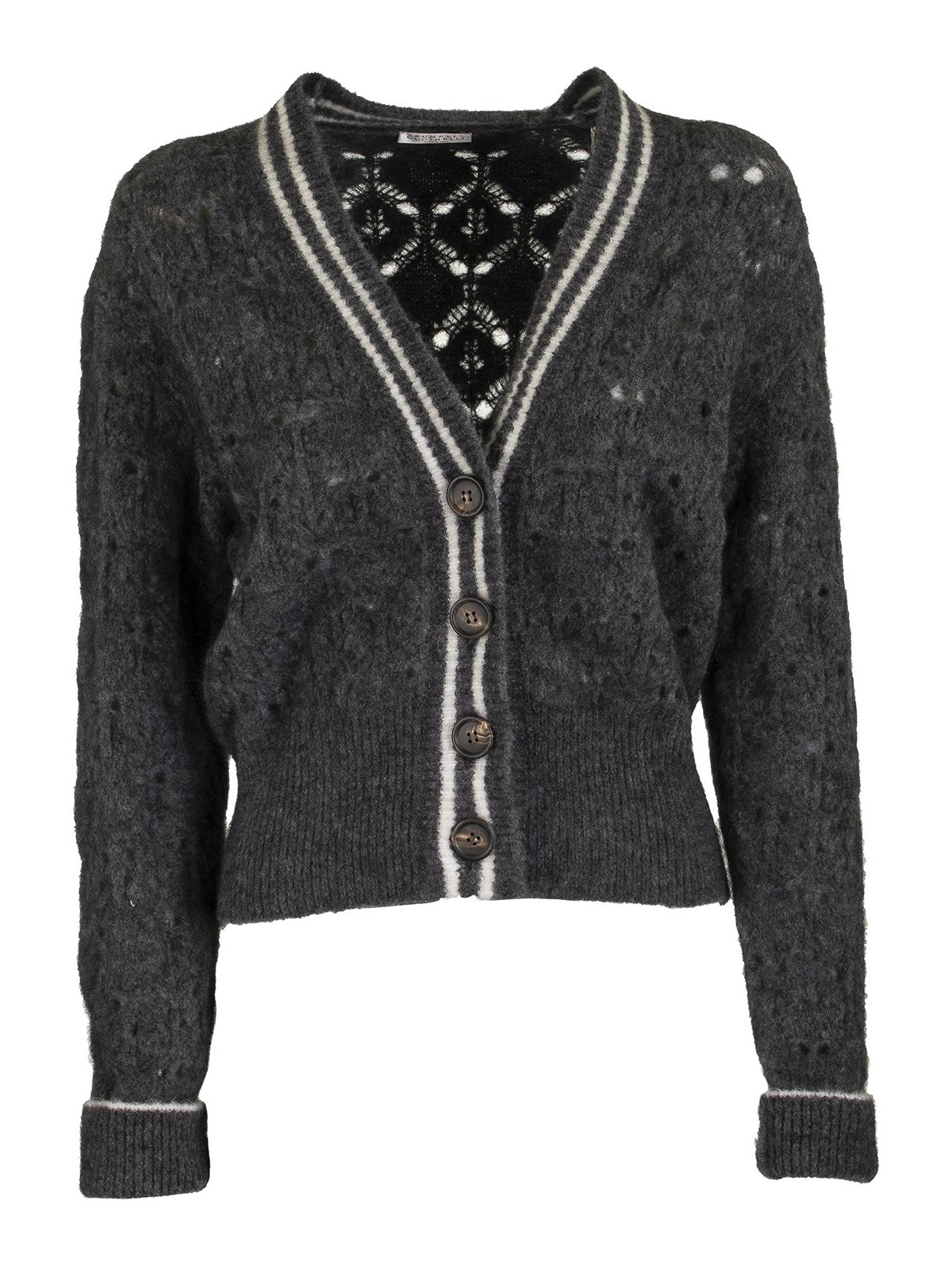 Brunello Cucinelli WOOL MOHAIR BLEND CARDIGAN