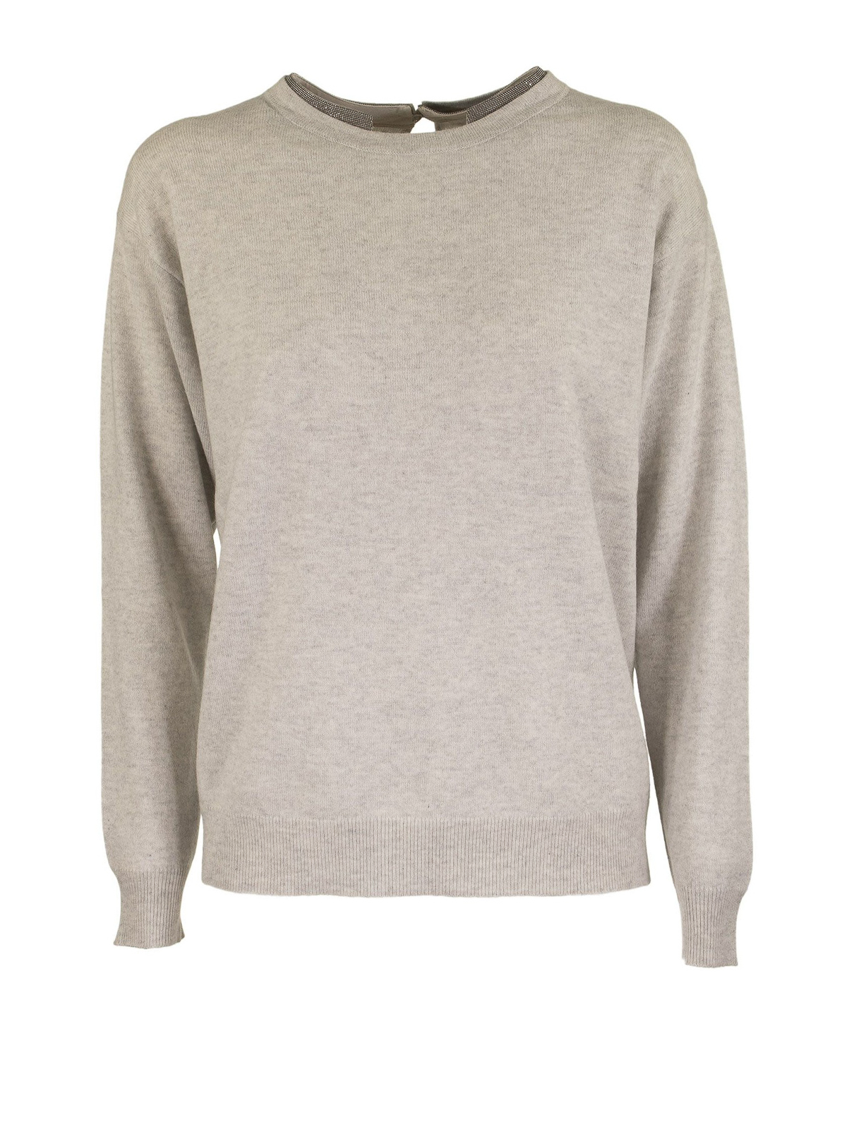 Brunello Cucinelli CASHMERE SWEATER WITH MONILI