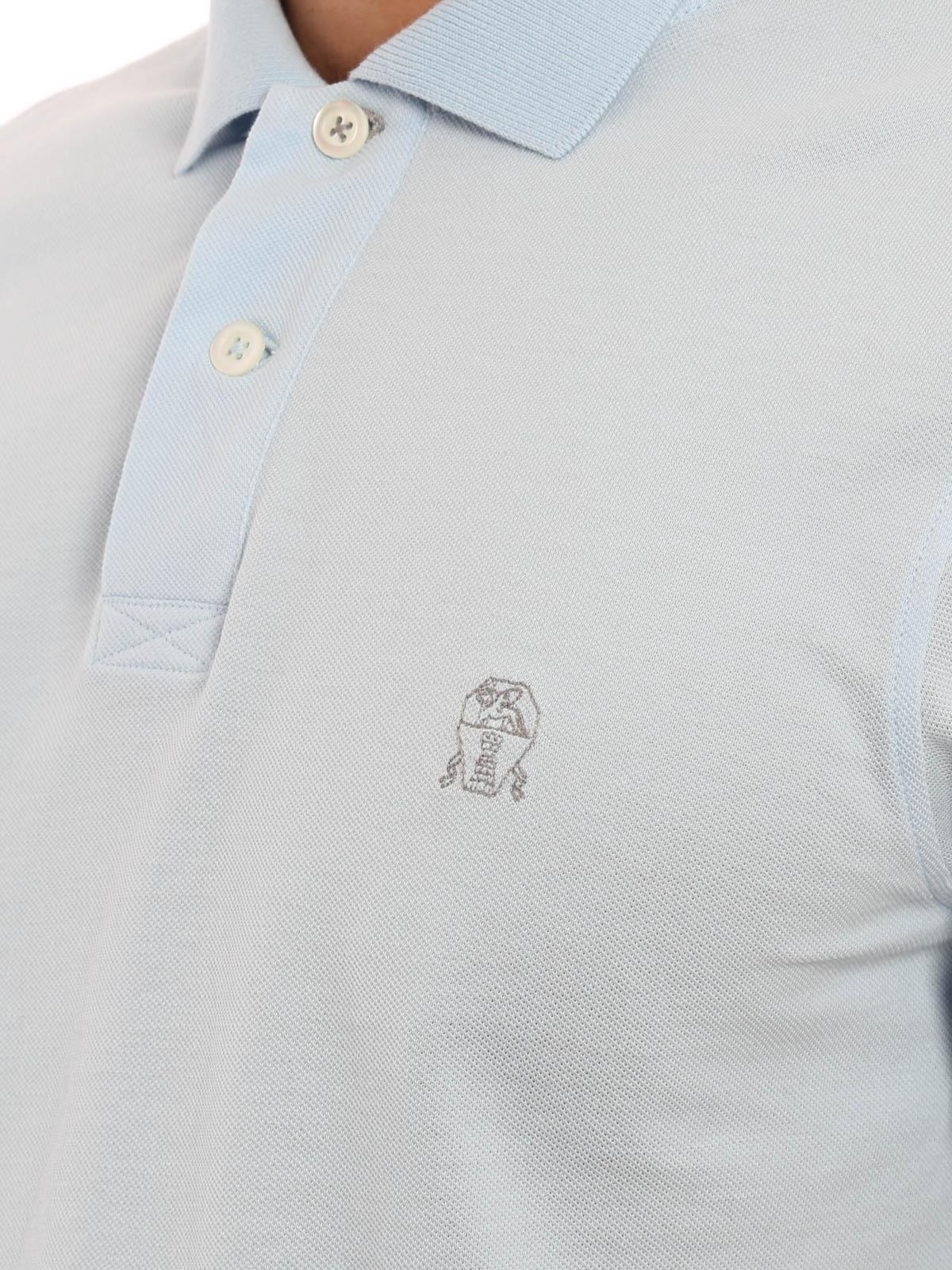 best service 32e3f fa890 Brunello Cucinelli - Embroided logo piquet polo - polo ...