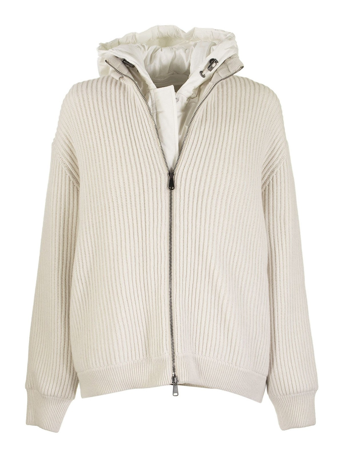 Brunello Cucinelli TWO-LAYERED CASHMERE JACKET