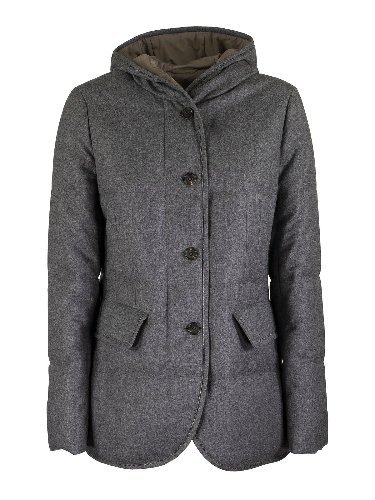 Brunello Cucinelli WOOL PUFFER JACKET