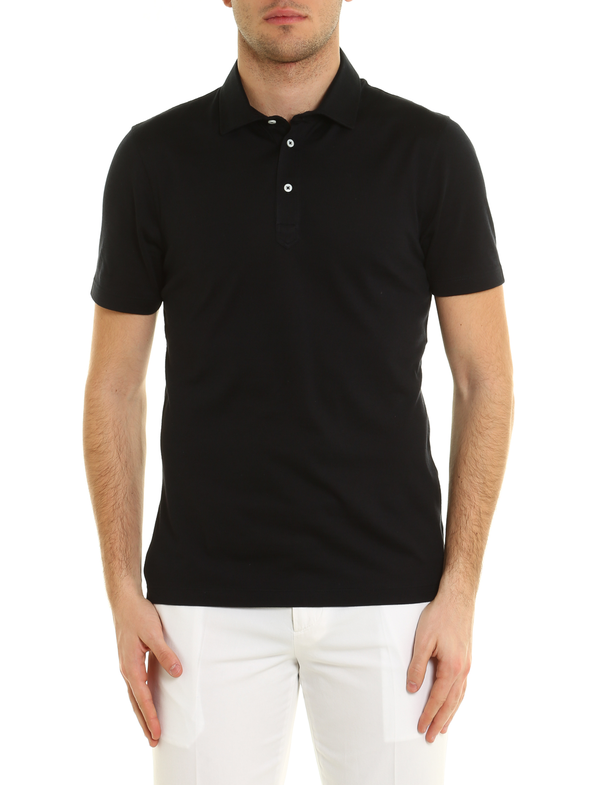 Silk and cotton blend polo shirt by brunello cucinelli for Cotton on polo shirt