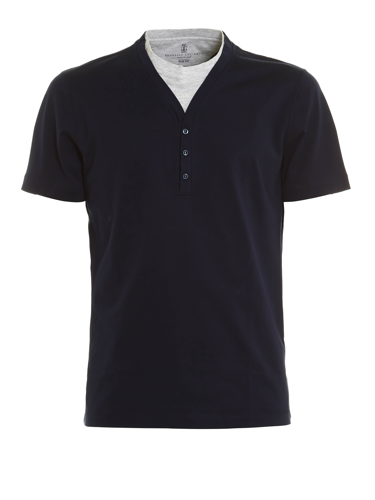 Henley Collar T Shirt By Brunello Cucinelli T Shirts Ikrix
