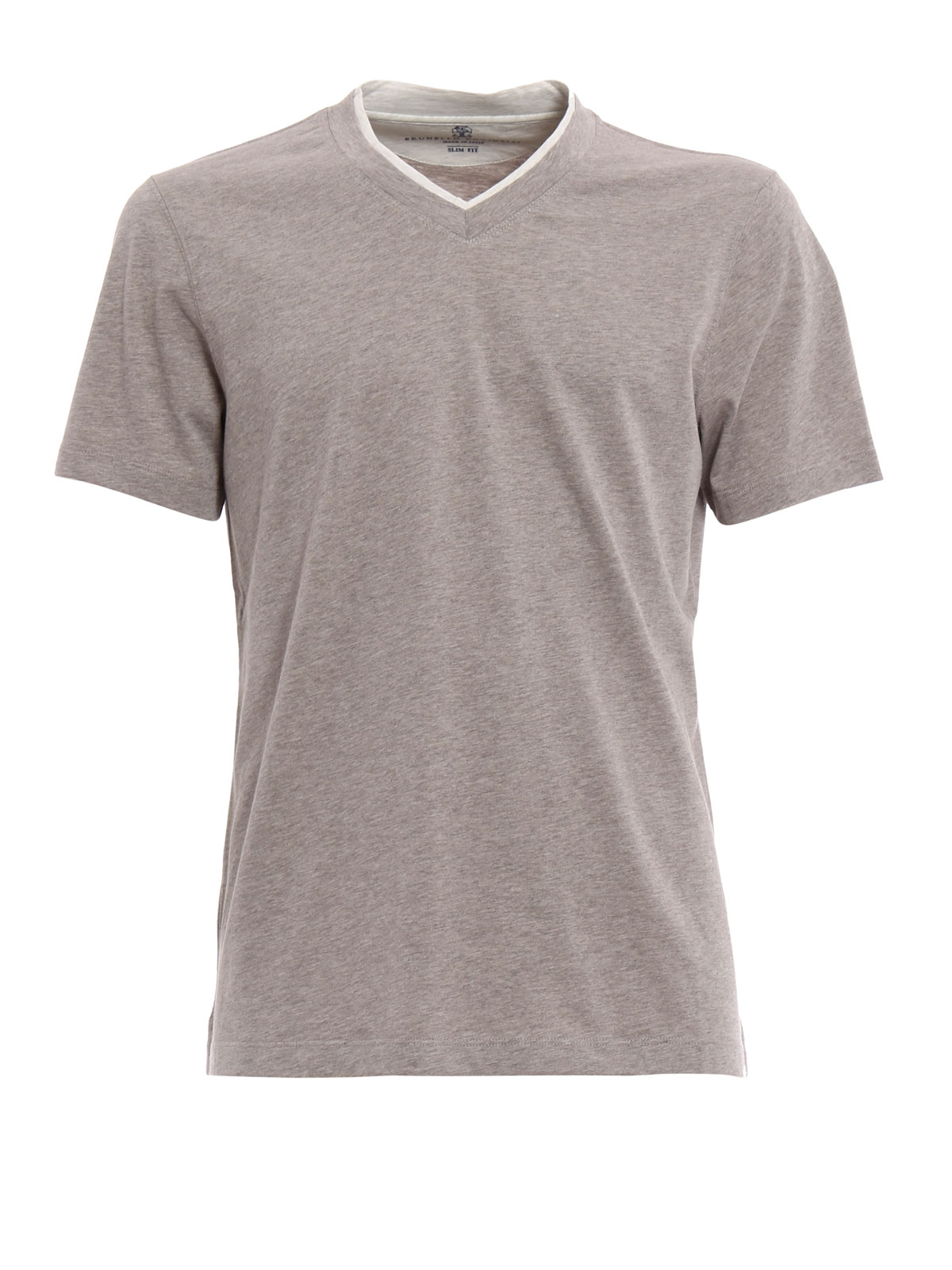 layered v neck t shirt by brunello cucinelli t shirts
