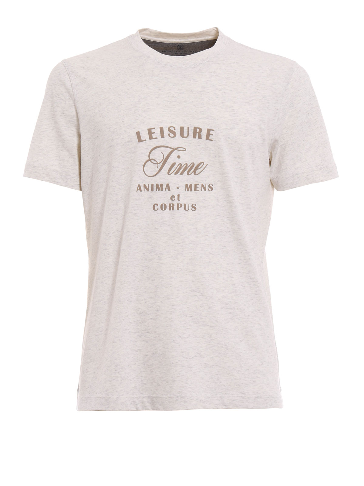 leisure time print t shirt by brunello cucinelli t