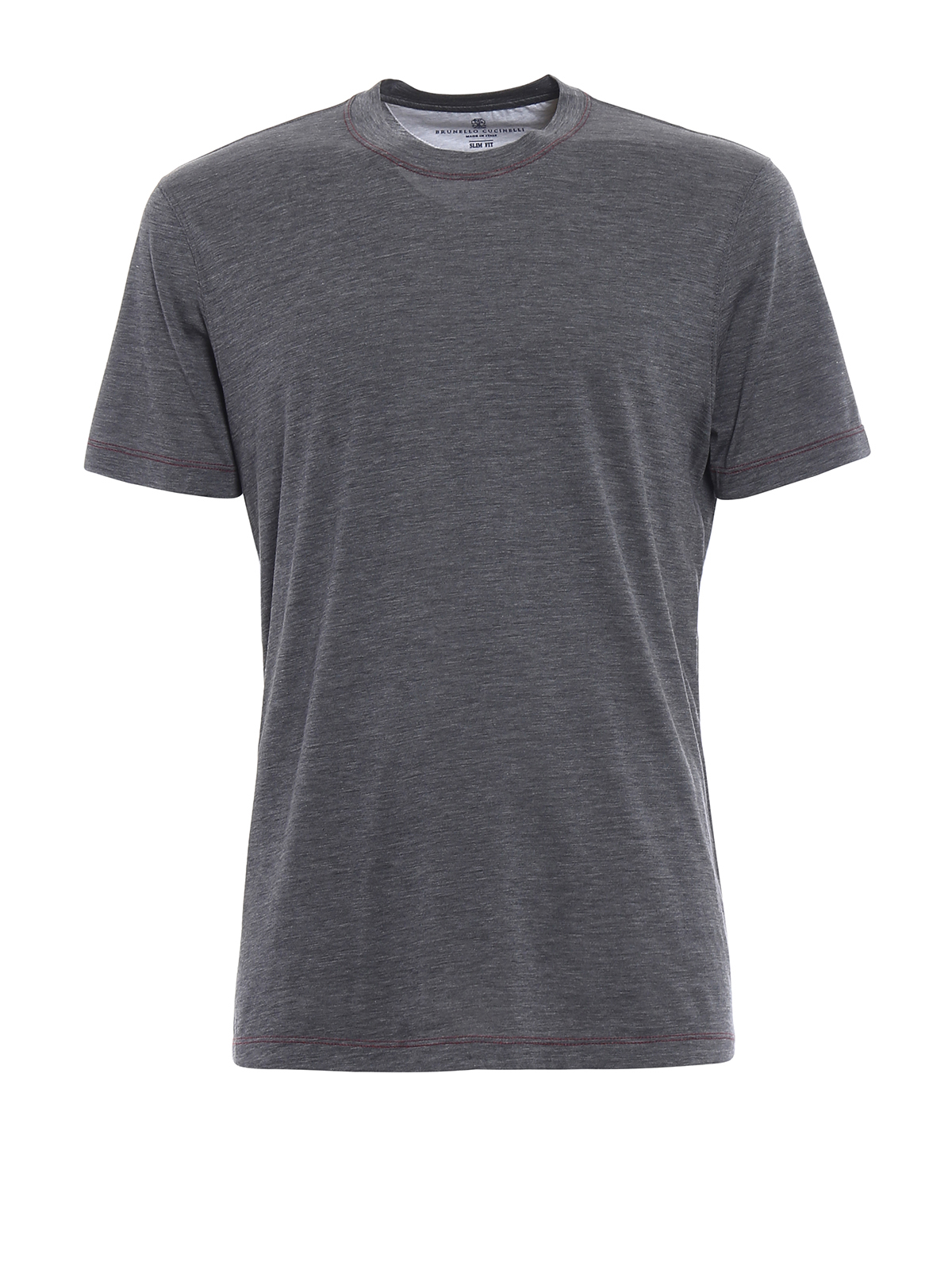 Silk and cotton melange t shirt by brunello cucinelli t for Cotton silk tee shirts