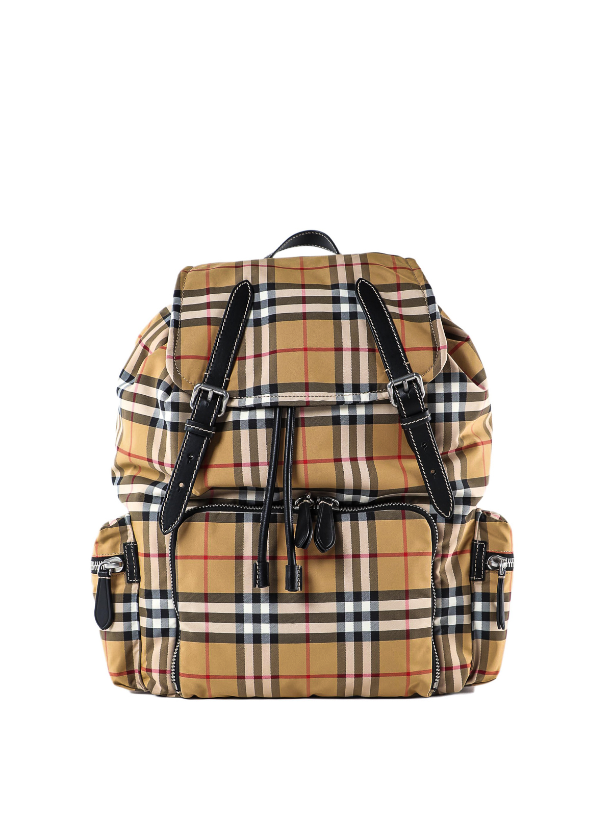 Burberry Leathers THE LARGE RUCKSACK VINTAGE CHECK BACKPACK