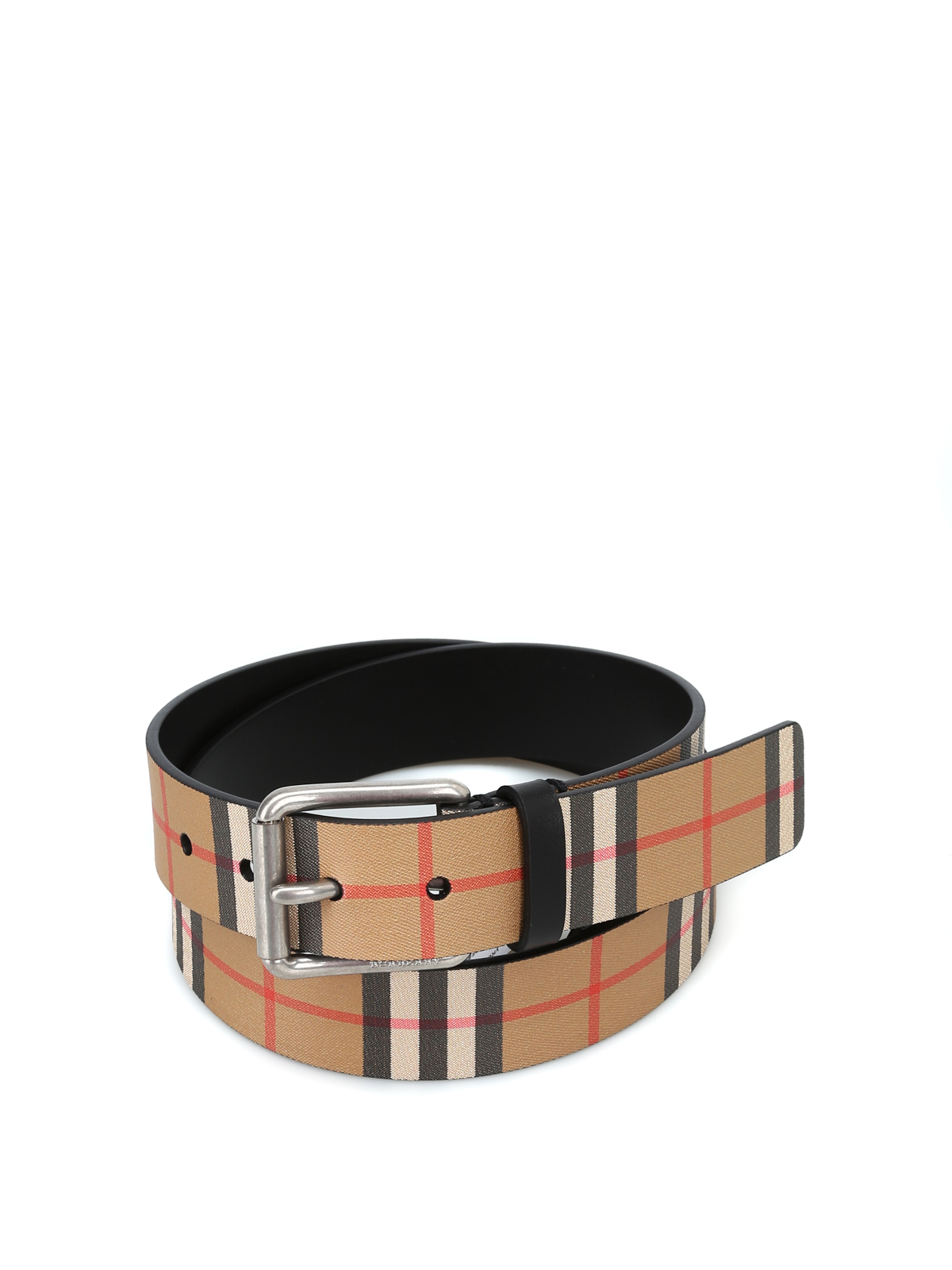 l'ultimo c931c c6660 Burberry - Cintura Mark35 in pelle nera Vintage check ...
