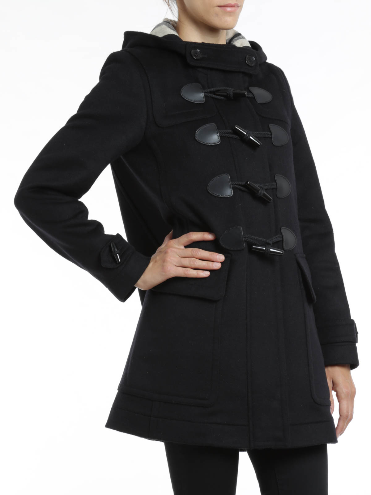 Burberry Brit Finsdale Wool Duffle Coat Knielange Mantel