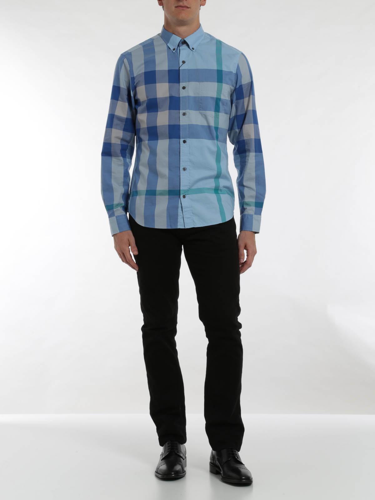 migliori scarpe da ginnastica 2923b 75a6b Burberry Brit - Camicia di cotone motivo check - camicie ...
