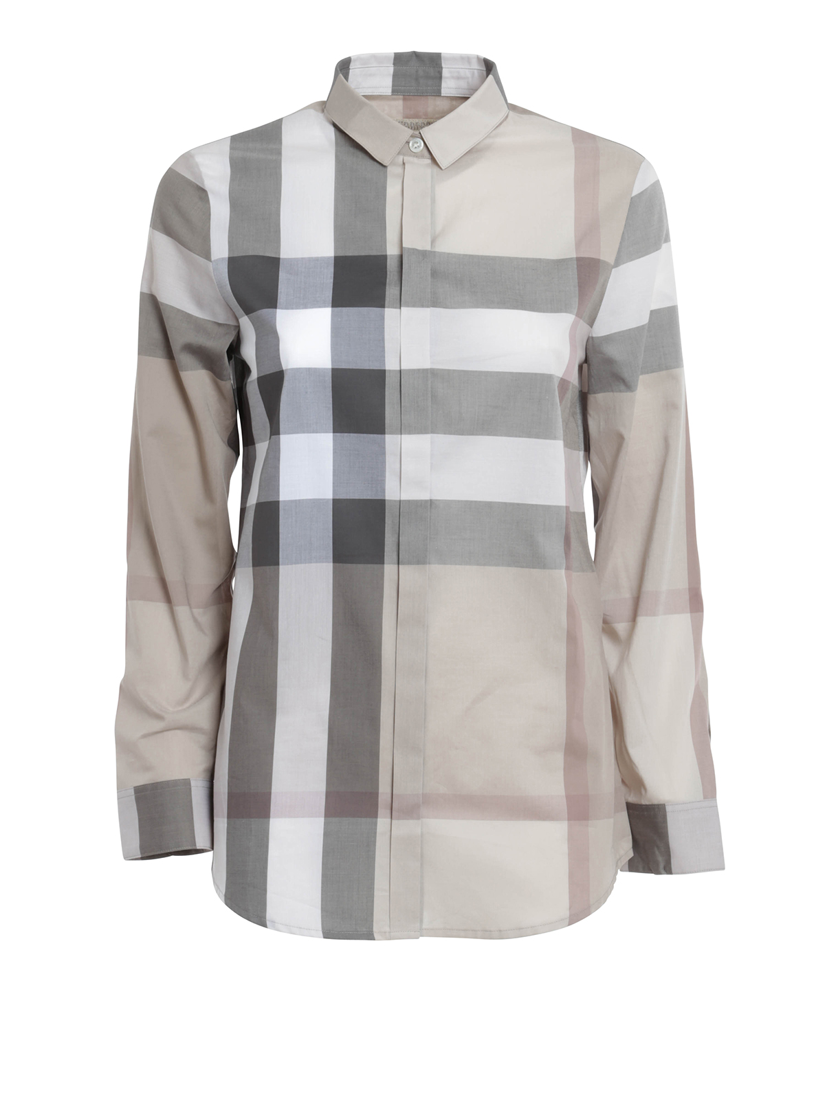 Check print shirt by burberry brit shirts ikrix for Where are burberry shirts made