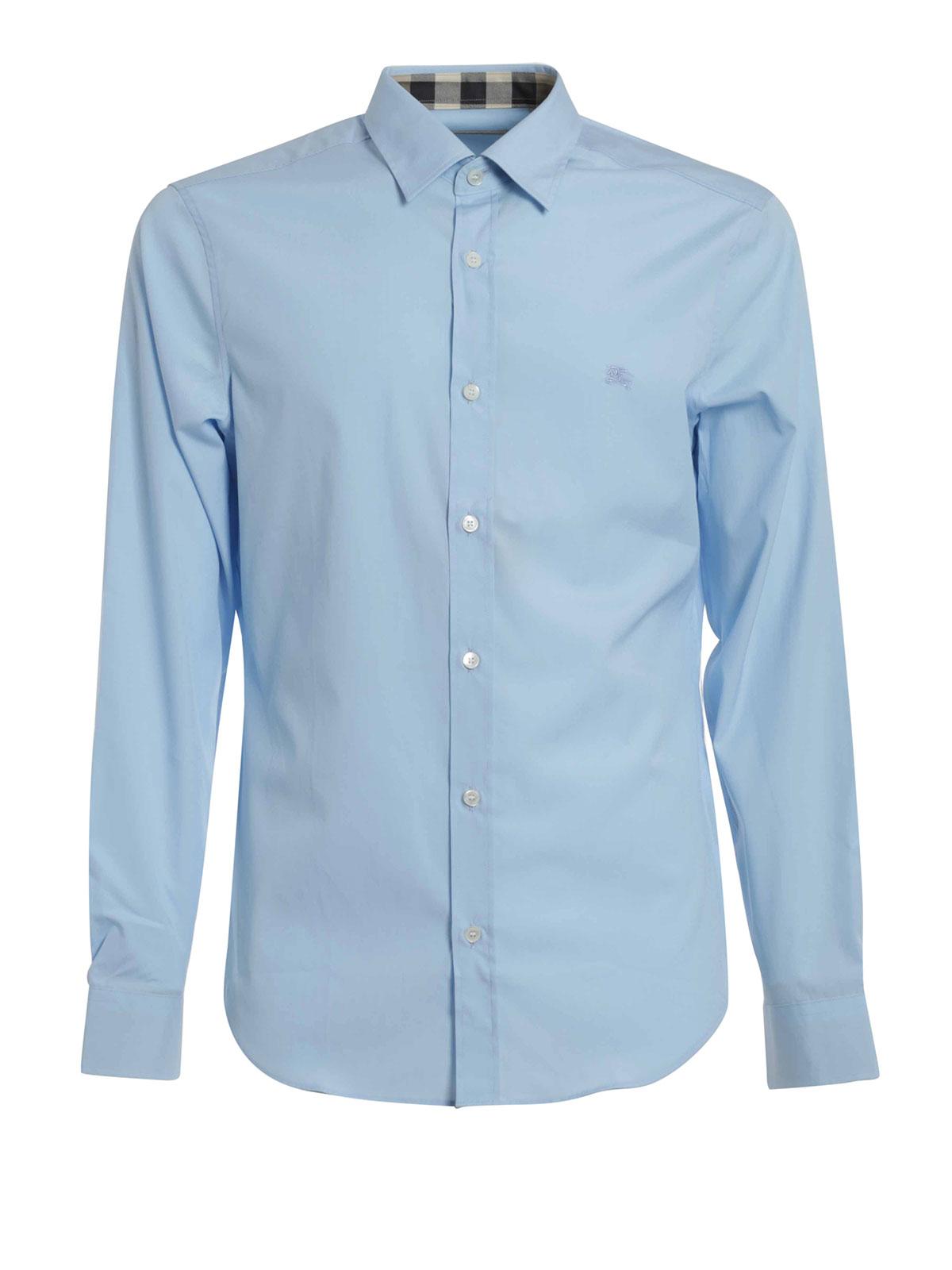 New York a081a c1160 Burberry Brit - Camicia in cotone tinta unita - camicie ...