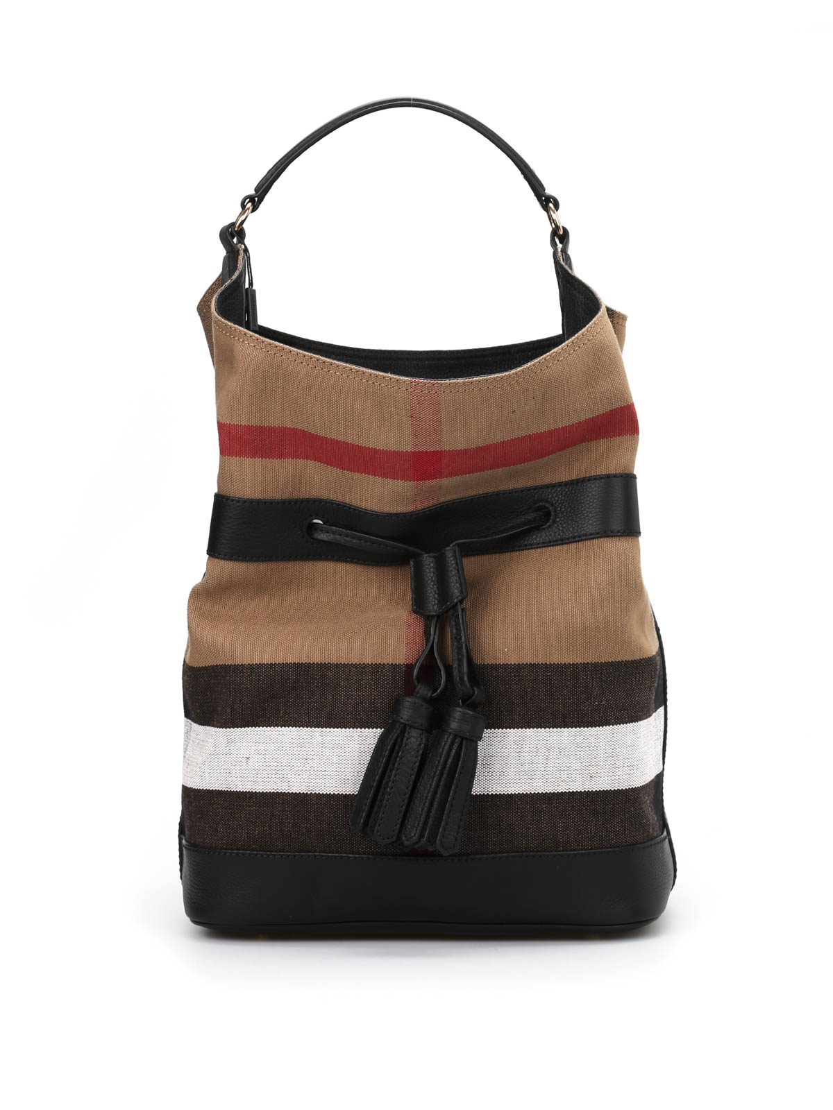 23c36aed332d Burberry - Large Ashby canvas bag - Bucket bags - 3997850 1