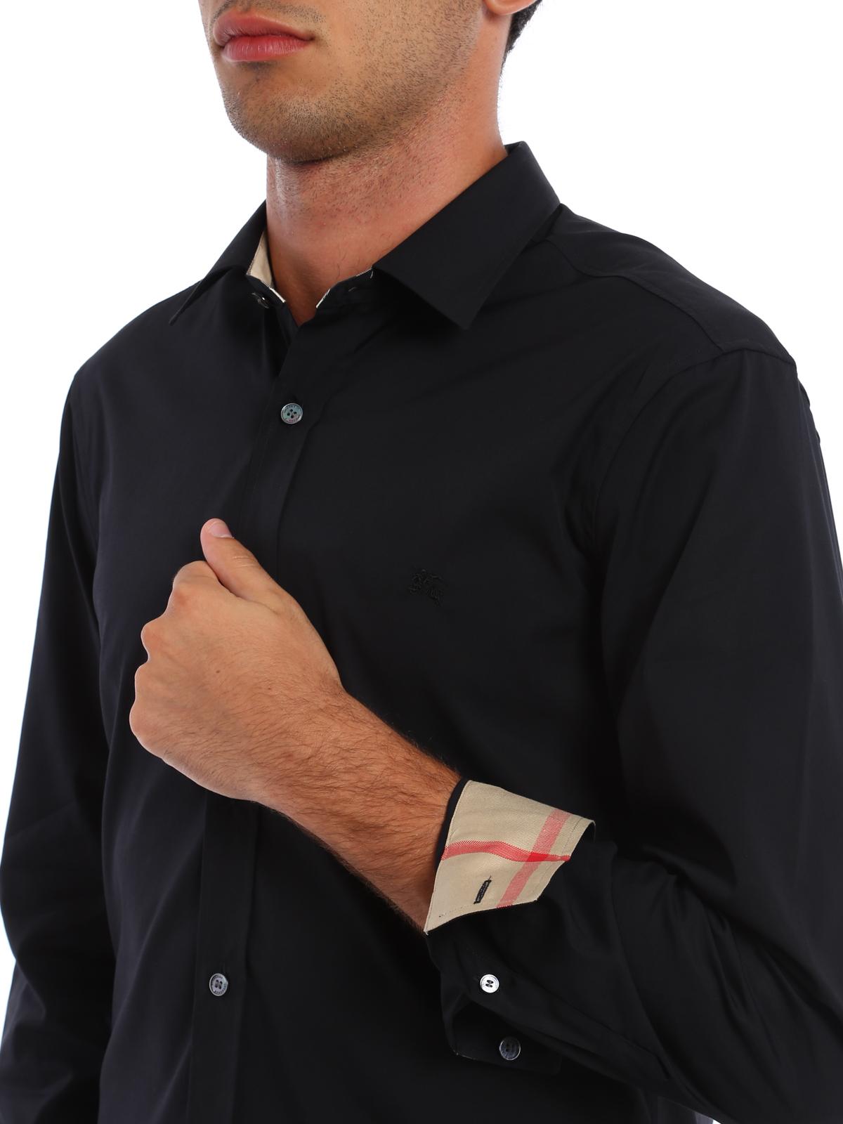 Burberry - Camisa Negra Para Hombre - Camisas - 3991162  37fb1c90dfefb