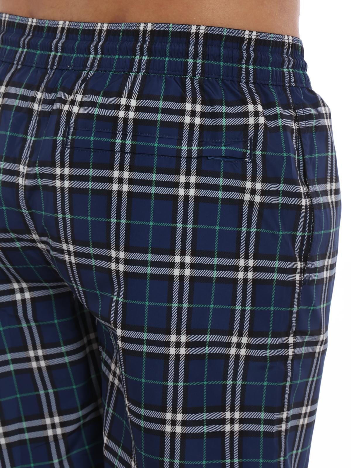 fb516e0af9ce0 Burberry - Guildes blue Check swim shorts - Swim shorts & swimming ...