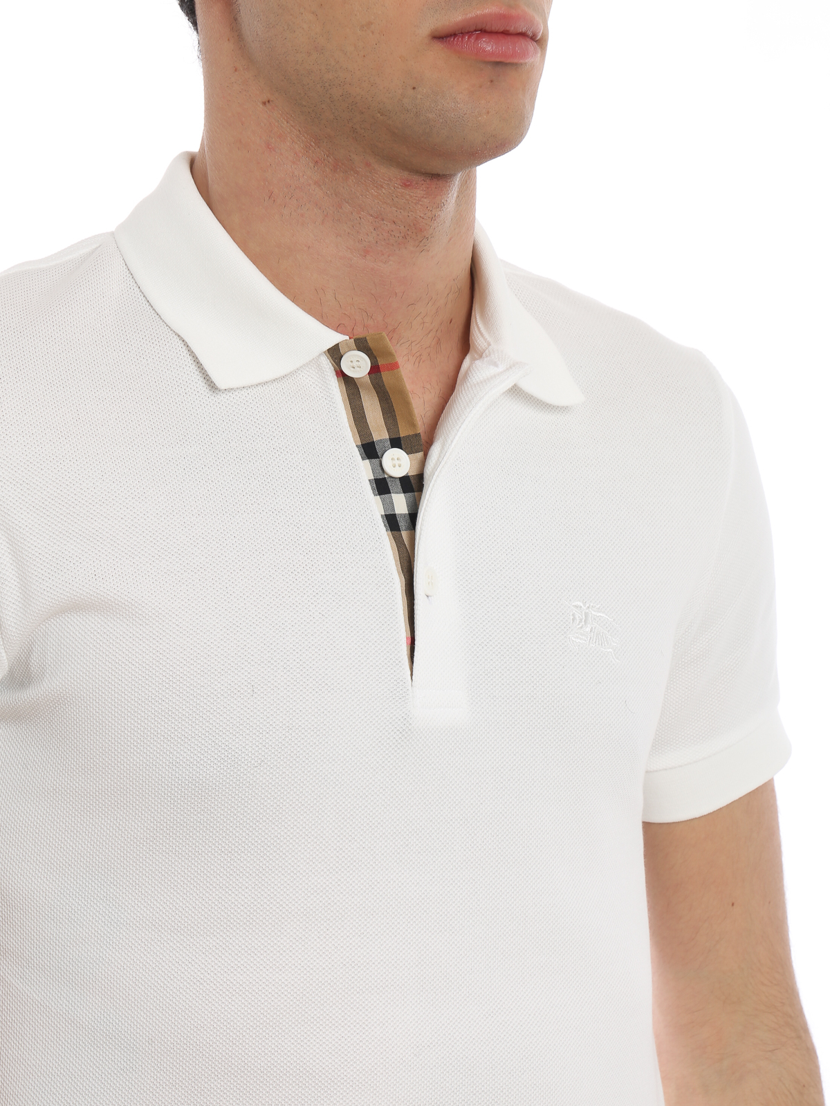 3df042950 Burberry - Hartford classic white cotton polo - polo shirts - 8000919