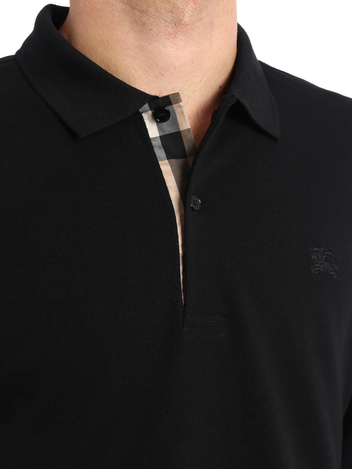 f4fb835537b4 Burberry - Polo Noir Pour Homme - Polos - 3982164   iKRIX.com