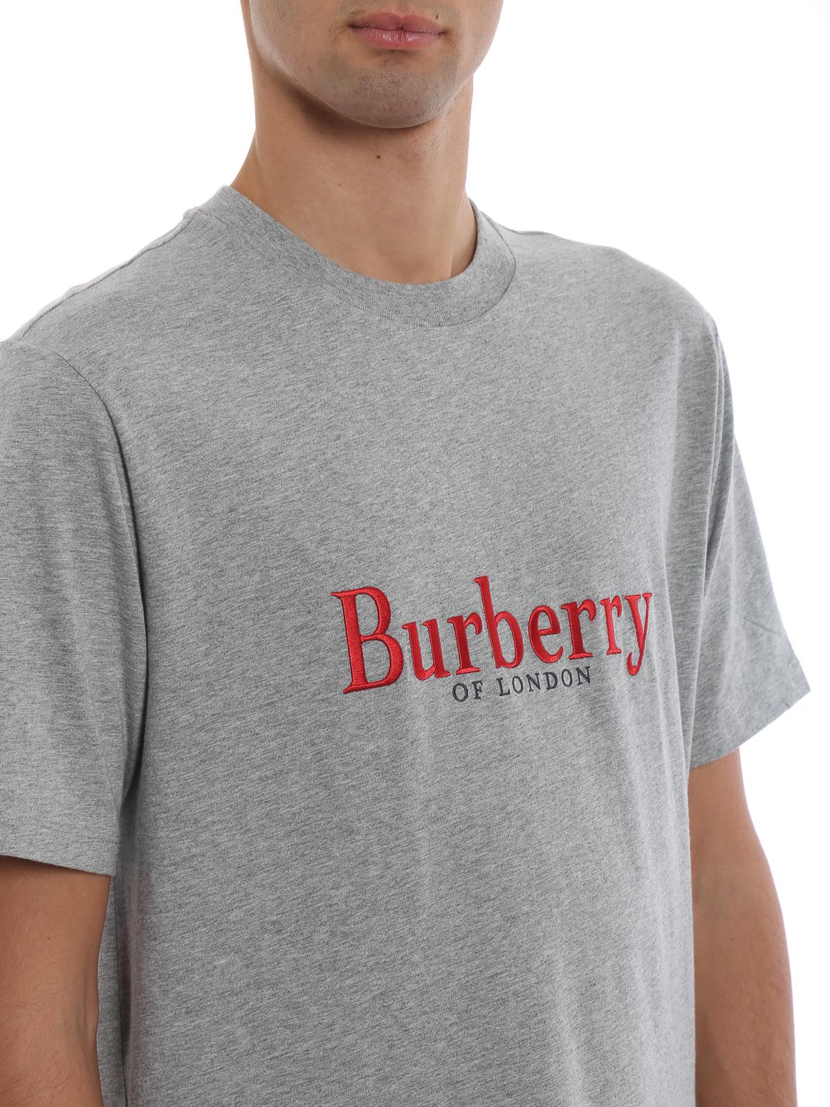 e3864e2b5a Burberry Embroidered Archive Logo Cotton T-shirt