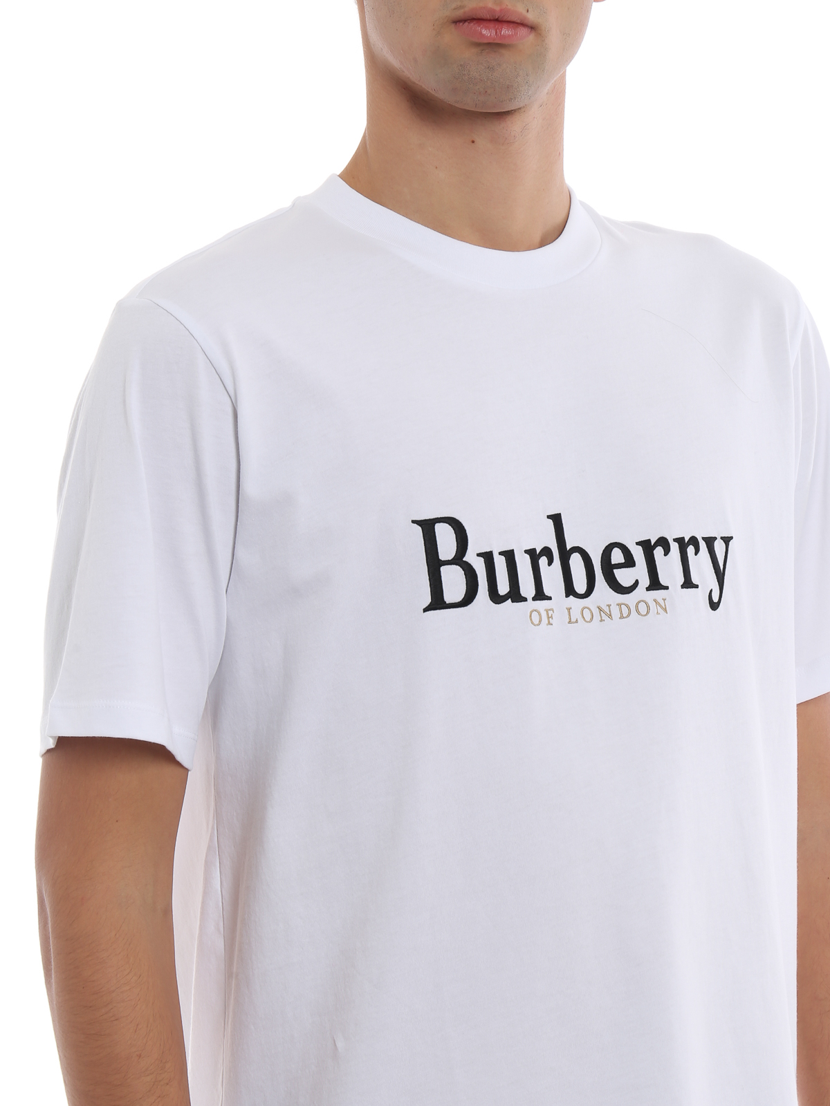 52a86f1a Burberry - Lopori white cotton T-shirt with archive logo - t-shirts ...