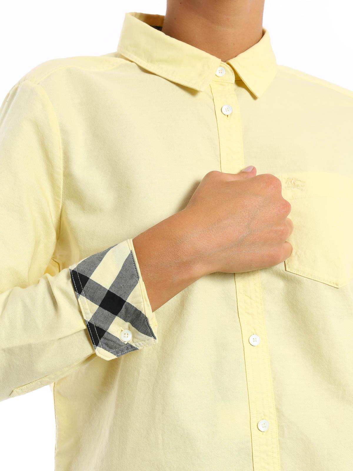 Burberry Camisa Amarillo Claro Para Mujer Camisas 40172971