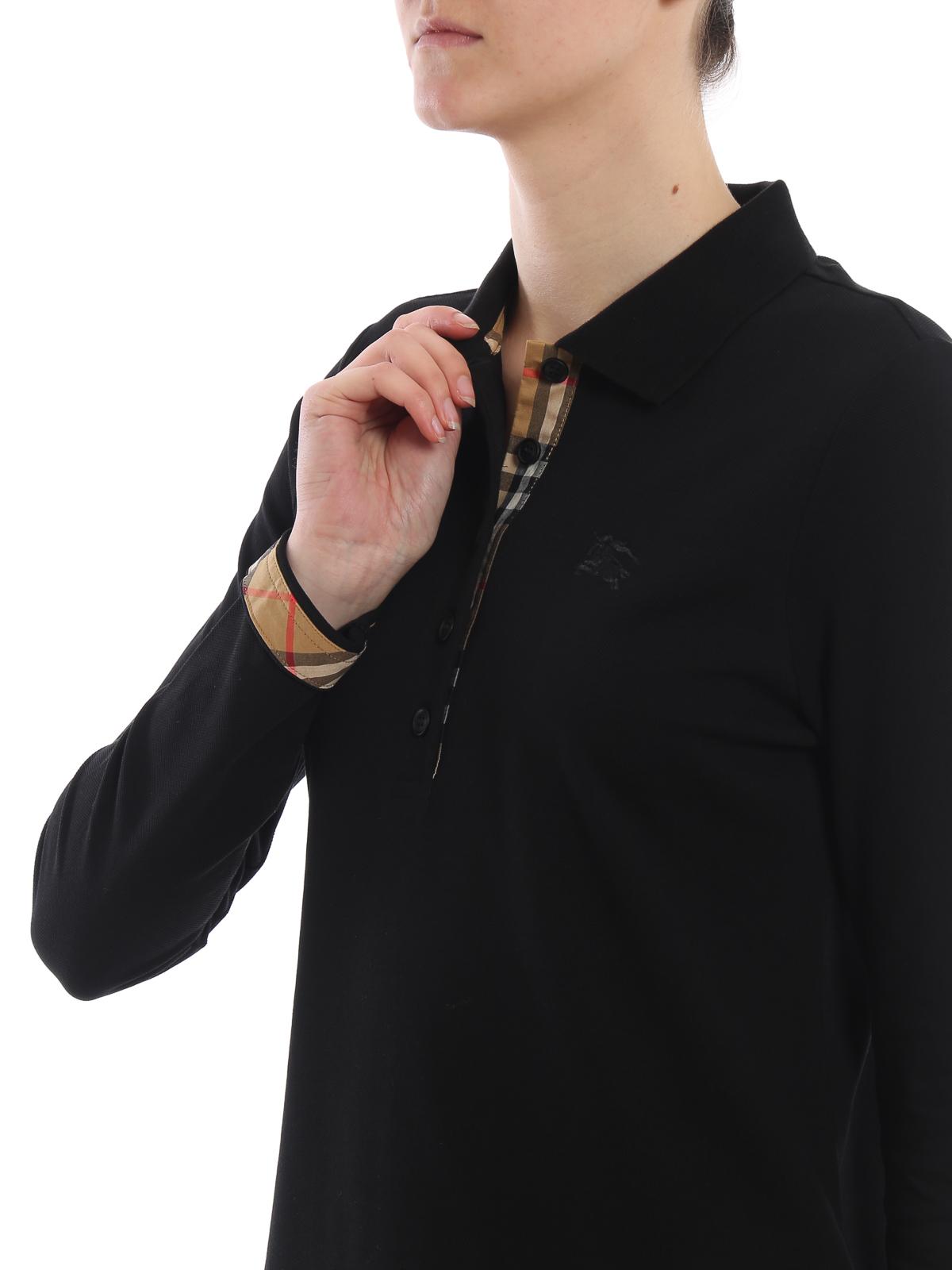 b3e99ea7 Burberry - Zulia black long sleeve polo shirt - polo shirts - 8004798