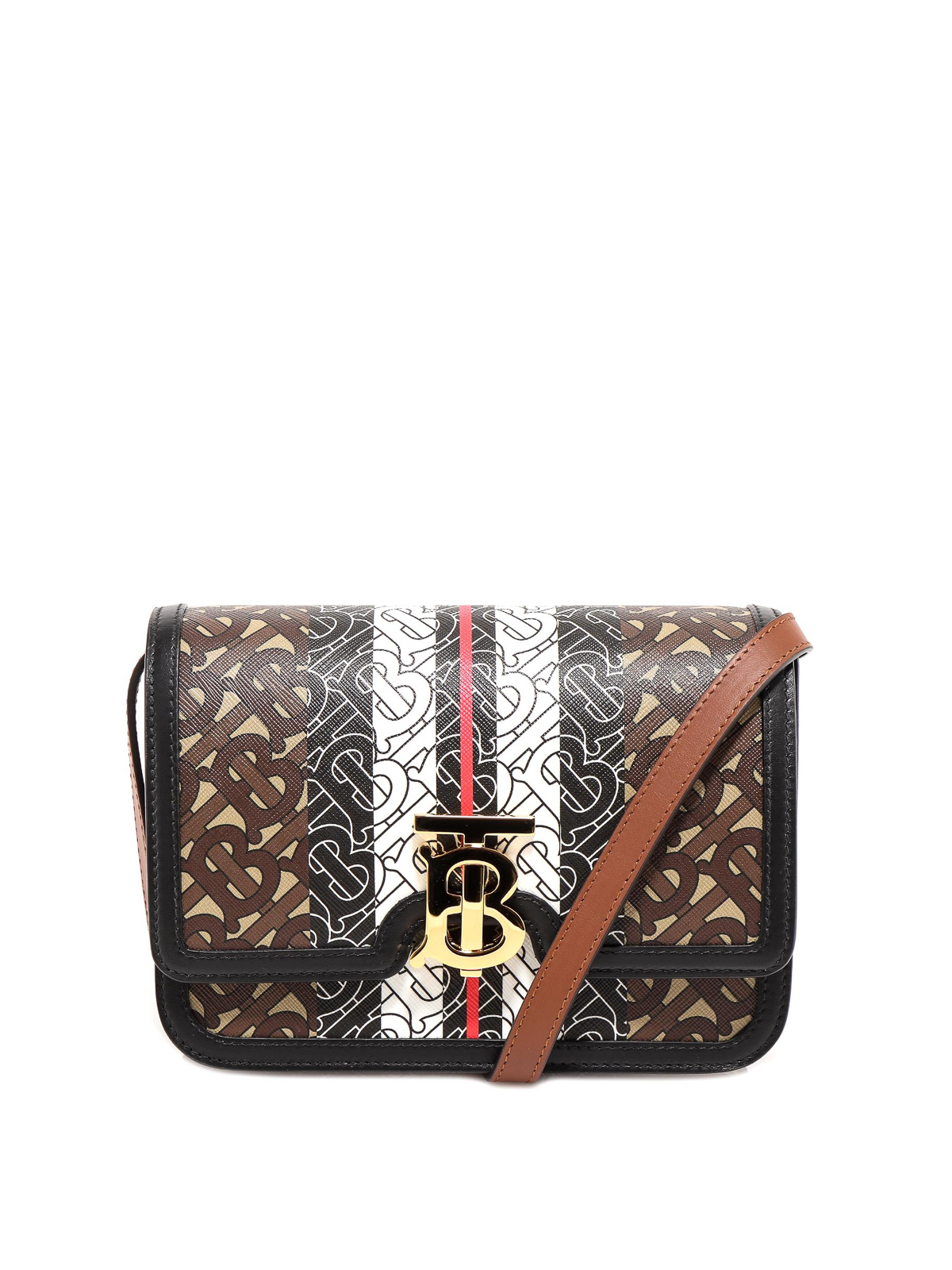 Burberry ALL-OVER TB MONOGRAM PATTERNED E-CANVAS BAG