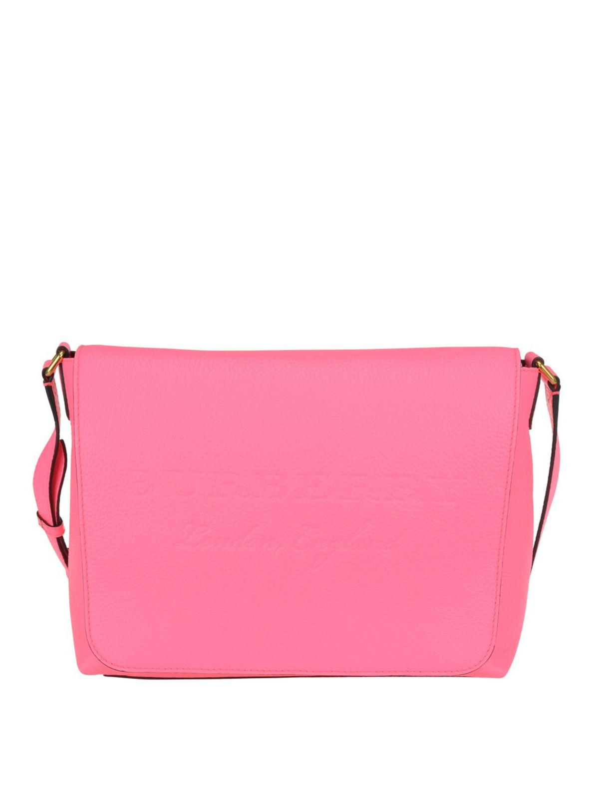 d05115d46b41 Burberry - Embossed logo neon leather bag - cross body bags - 4068502