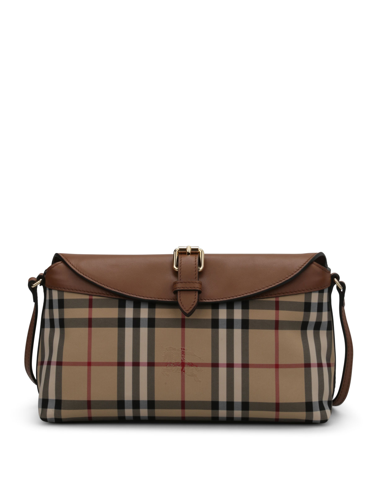 Burberry - Horseferry Check-Leather Leah bag - cross body