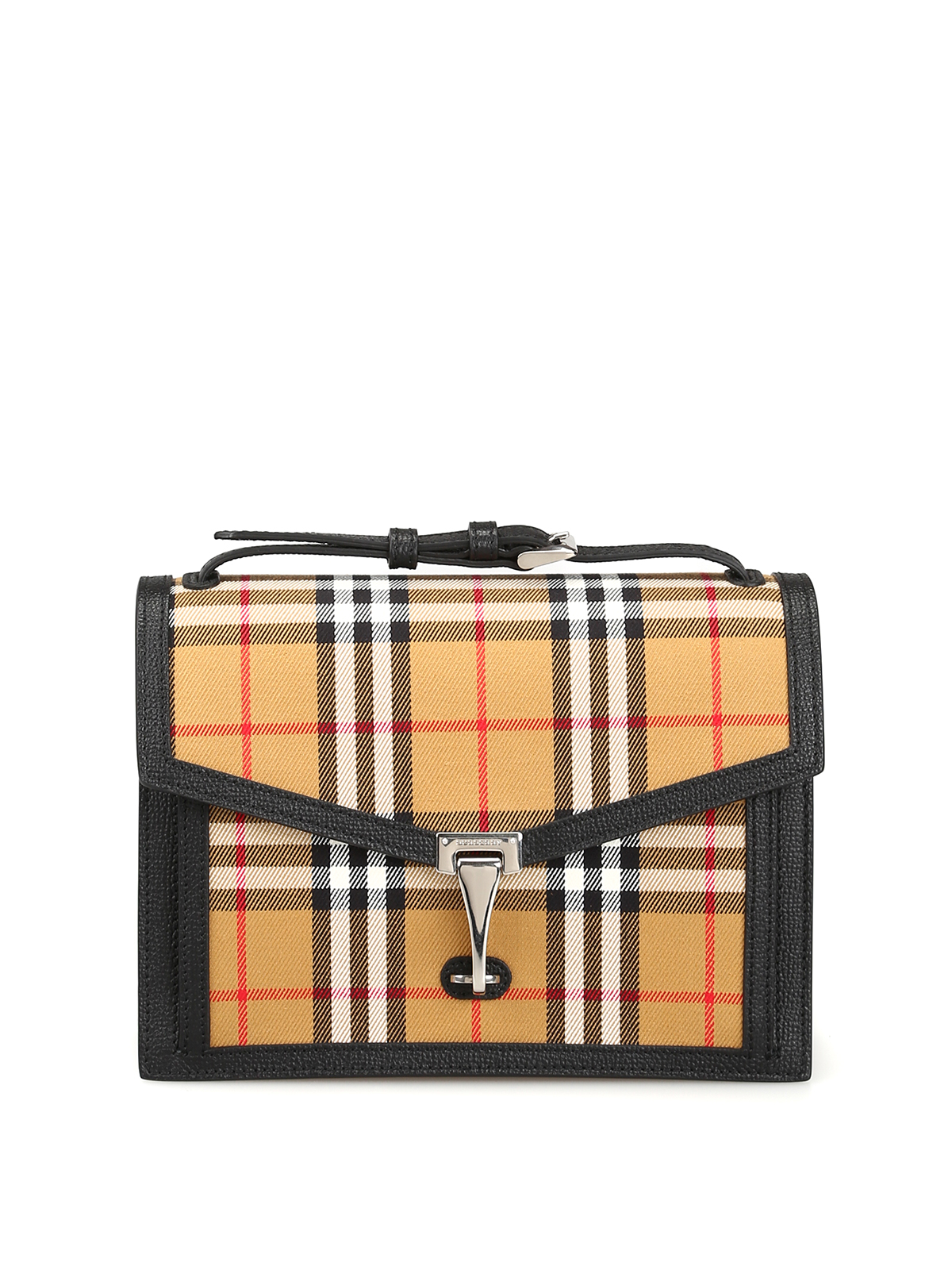 7af8619e8c4a Burberry - Macken Vintage check and leather small bag - cross body ...