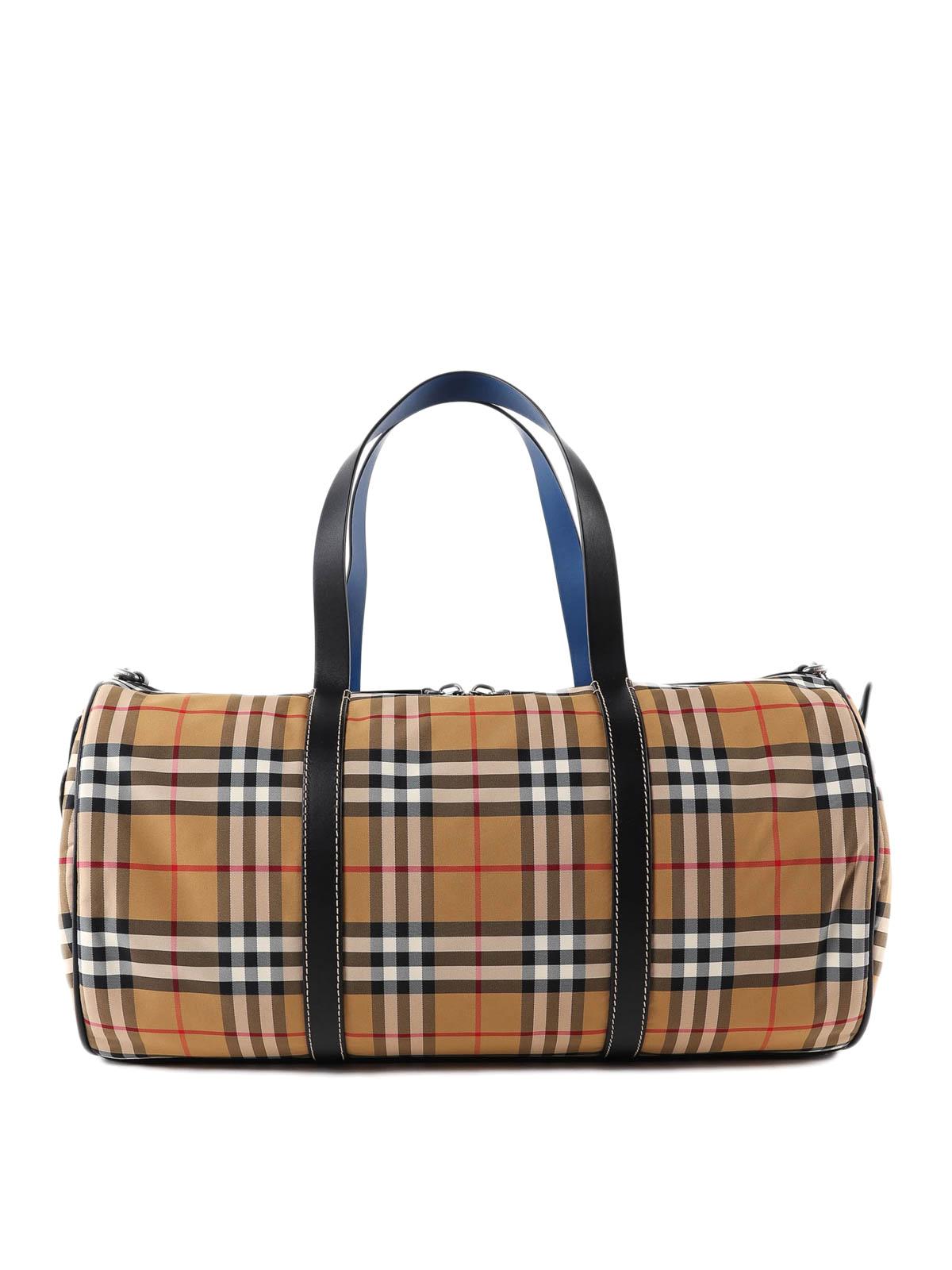 Burberry - Vintage check nylon duffle bag - Luggage   Travel bags ... 1df45854f9
